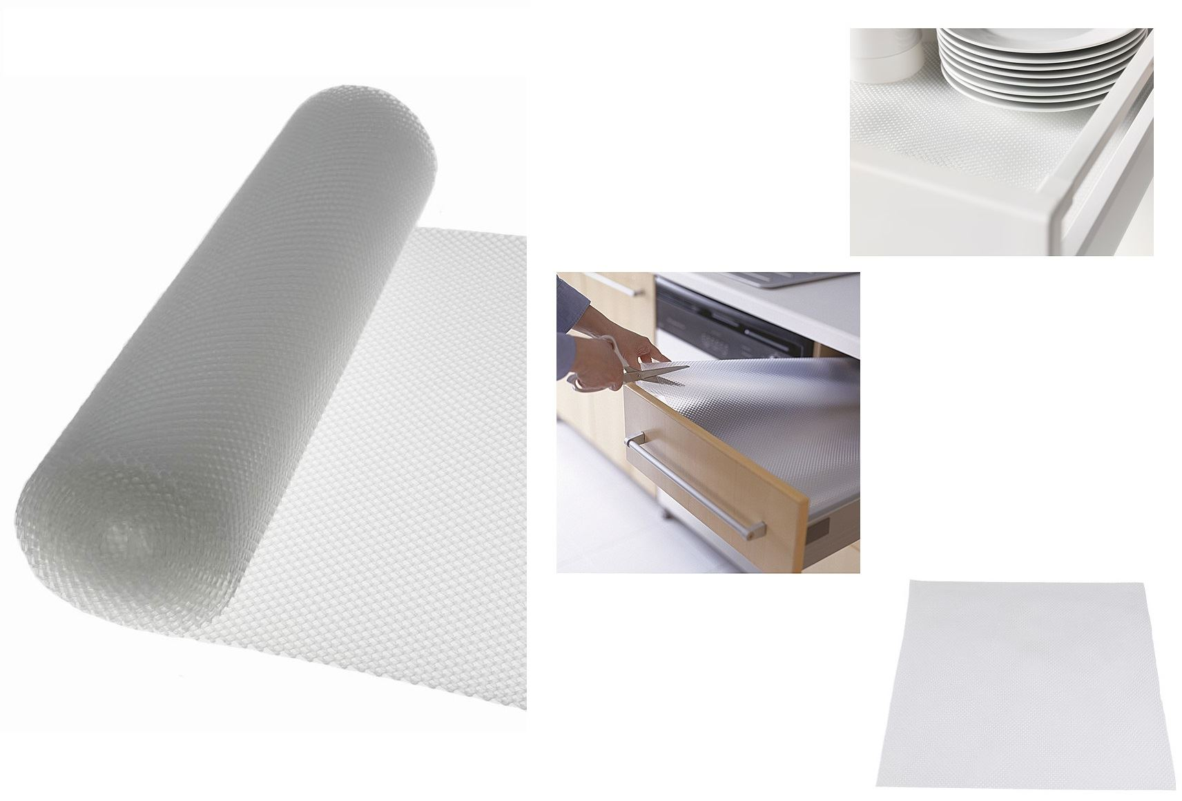 Cupboard Cabinet Drawer Clear Liners Non Slip Rubber Mat
