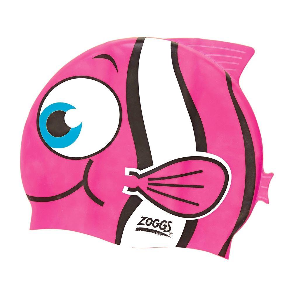Pink Blue Zoggs Junior Silicone Multi Coloured Swimming Cap