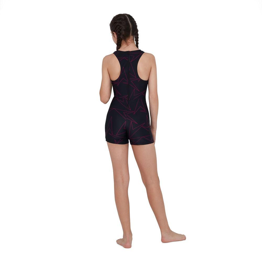 Speedo Junior Girl/'s Boomstar Allover Legsuit Swimsuit