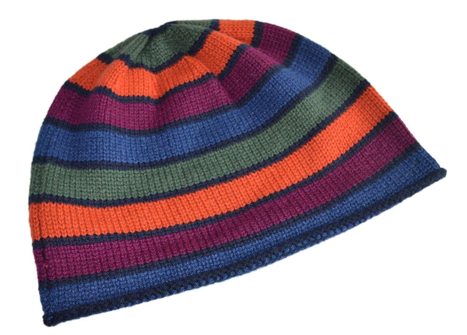 a5d9ecbe5c2 Invisible World Women s Cashmere Cap Striper Beanie