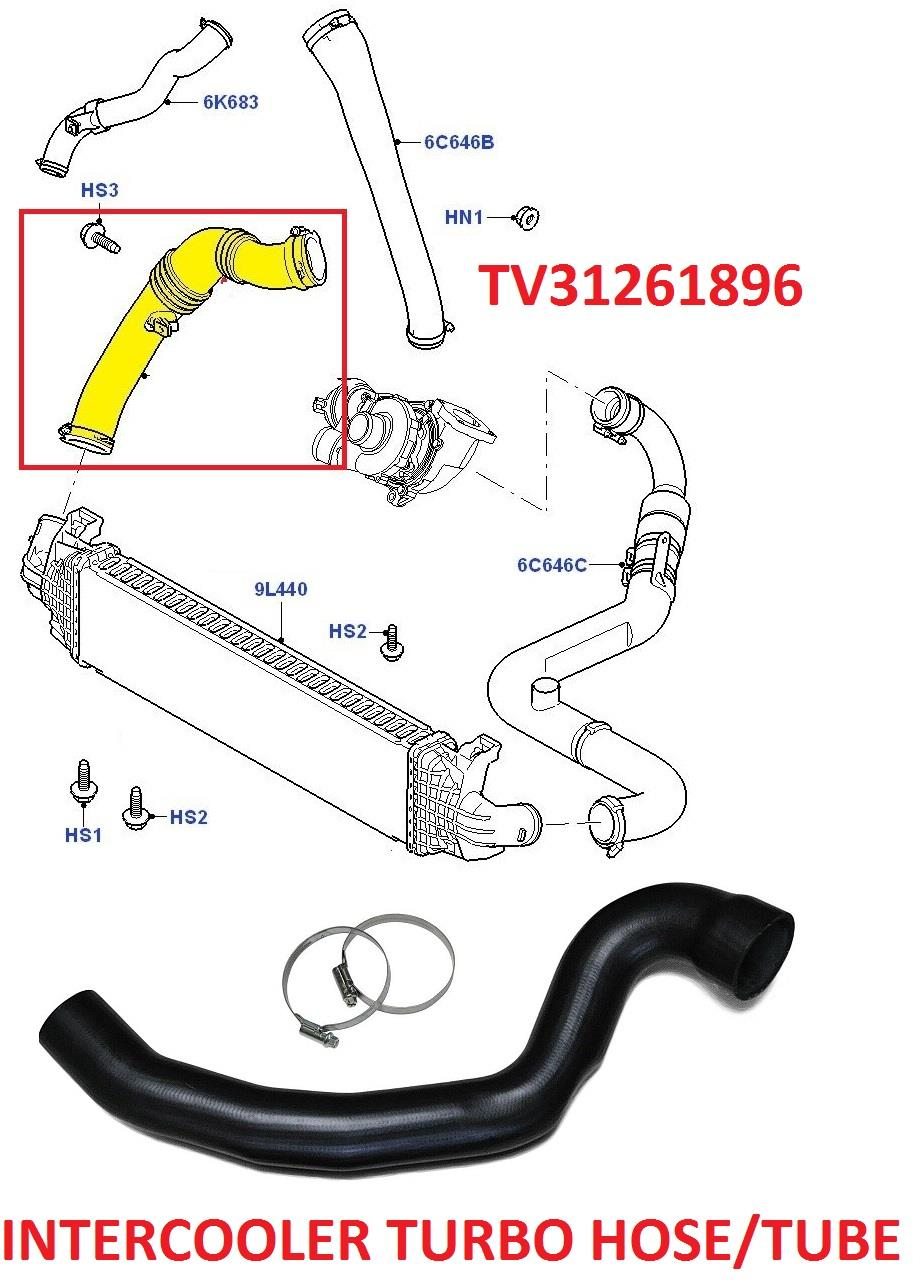 FOR FORD C-MAX, FOCUS MK2 TURBO INTERCOOLER HOSE TURBO PIPE 2.0 TDCi 31261896