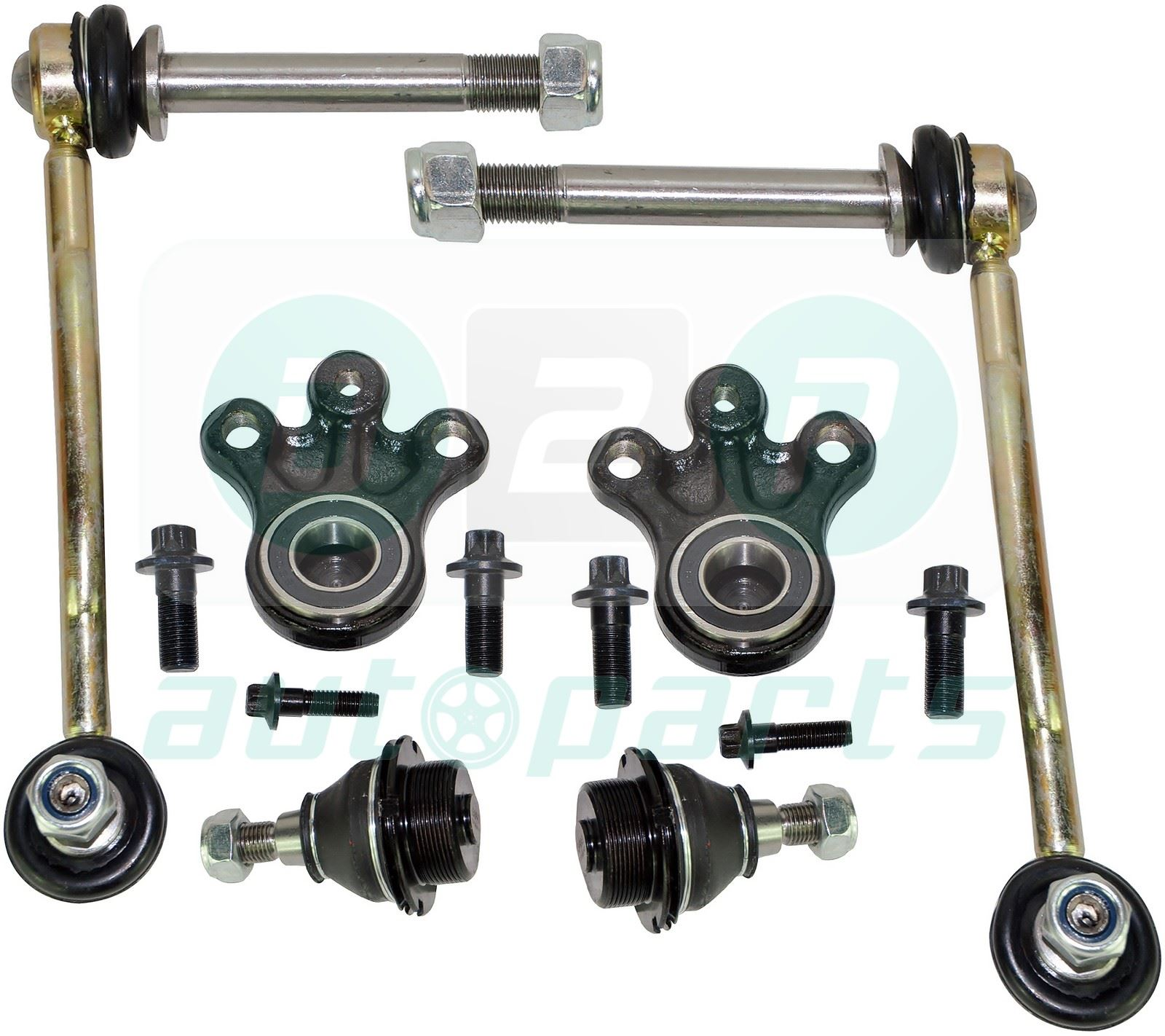 for peugeot 407 front suspension lower upper ball joints drop links kit ebay. Black Bedroom Furniture Sets. Home Design Ideas