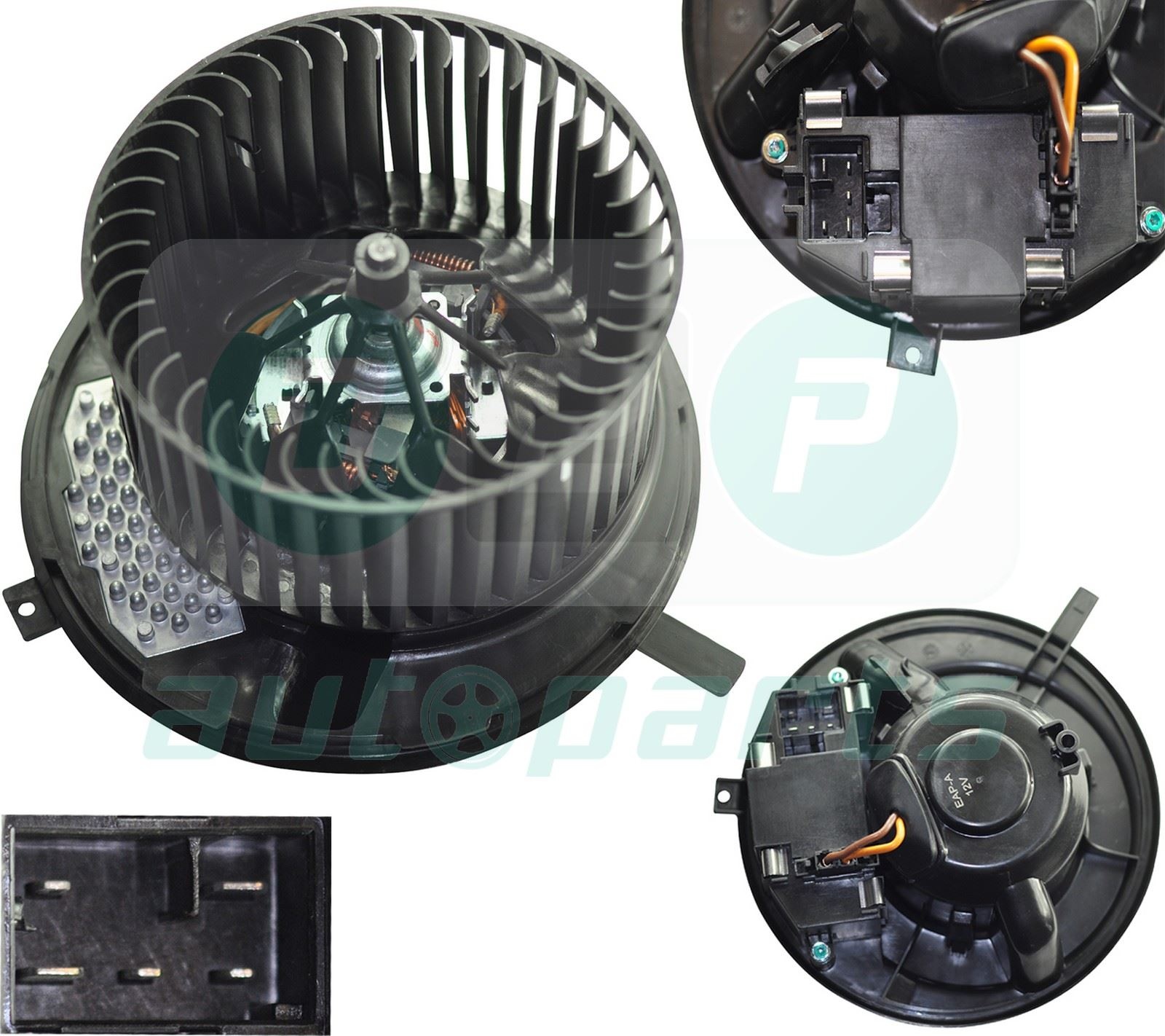 Heater Blower Motor Fan For Audi A3 8p Q3 Tt Skoda