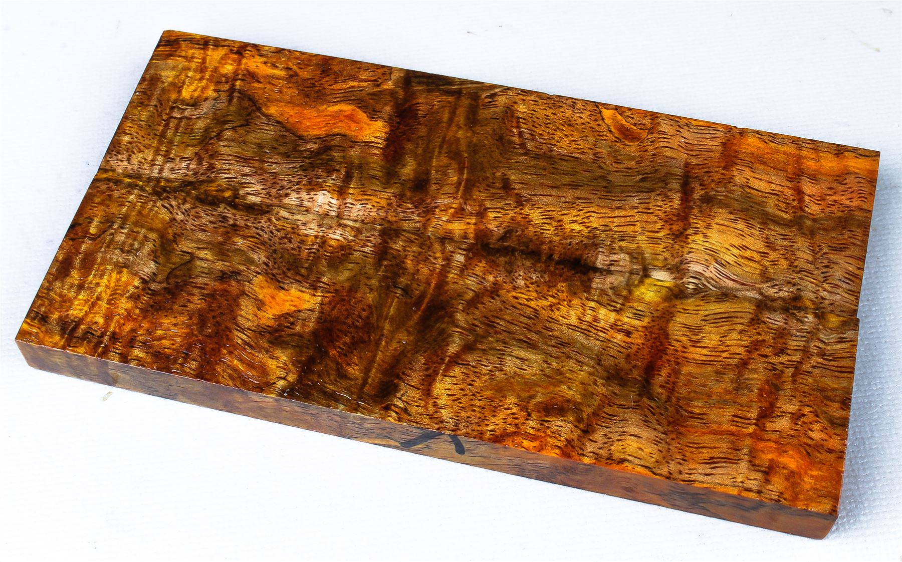 Details about Stabilized Curly Mango Exotic Wood Knife Scales, Gun Grips  SCL7622