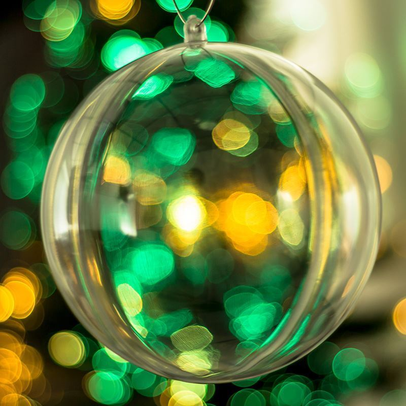 how to decorate christmas baubles clear