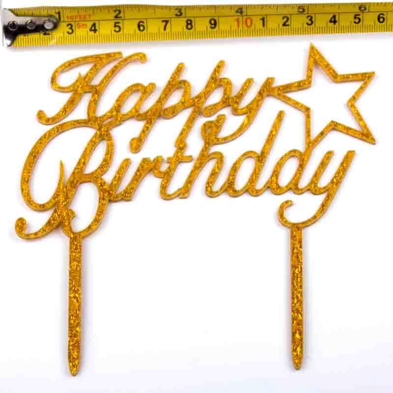 Cake-Toppers-MULTIPLE-DESIGNS-Wedding-Birthday-Decoration-Baking thumbnail 35