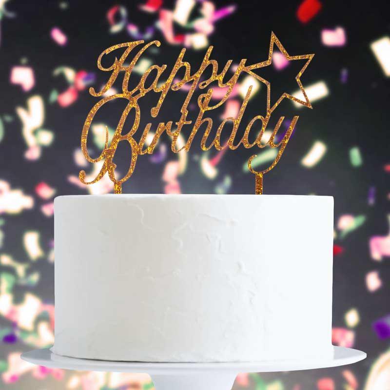 Cake-Toppers-MULTIPLE-DESIGNS-Wedding-Birthday-Decoration-Baking thumbnail 34