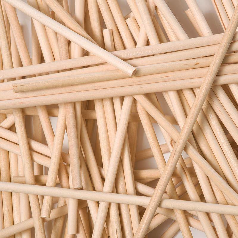 Rond Bois Lollipop Sticks 280 mm x 6.5 mm-X50 plante de jardin canne Support