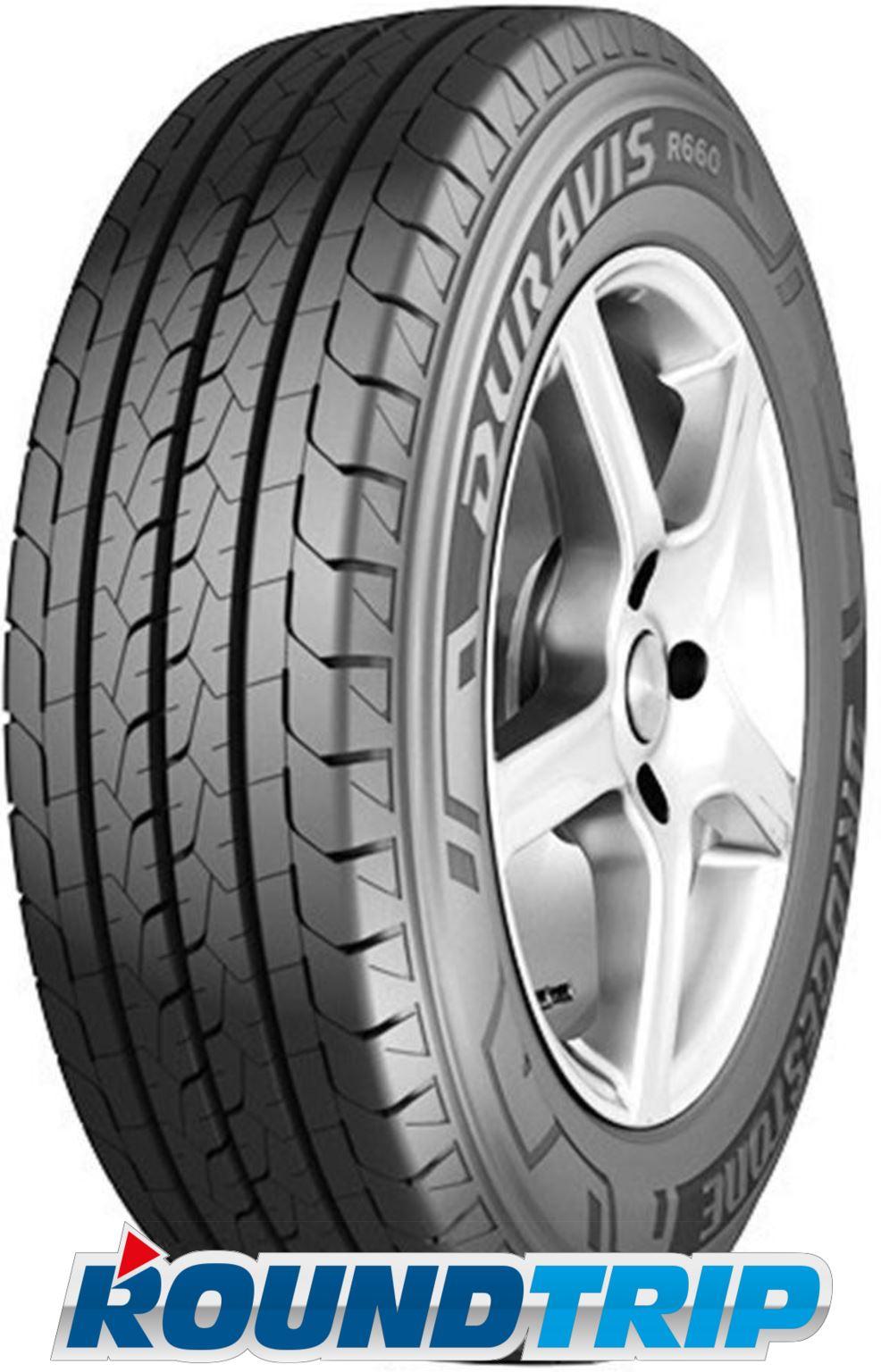 SUMMER TYRE Bridgestone Duravis R660 185//75 R14C 102//100R 8PR