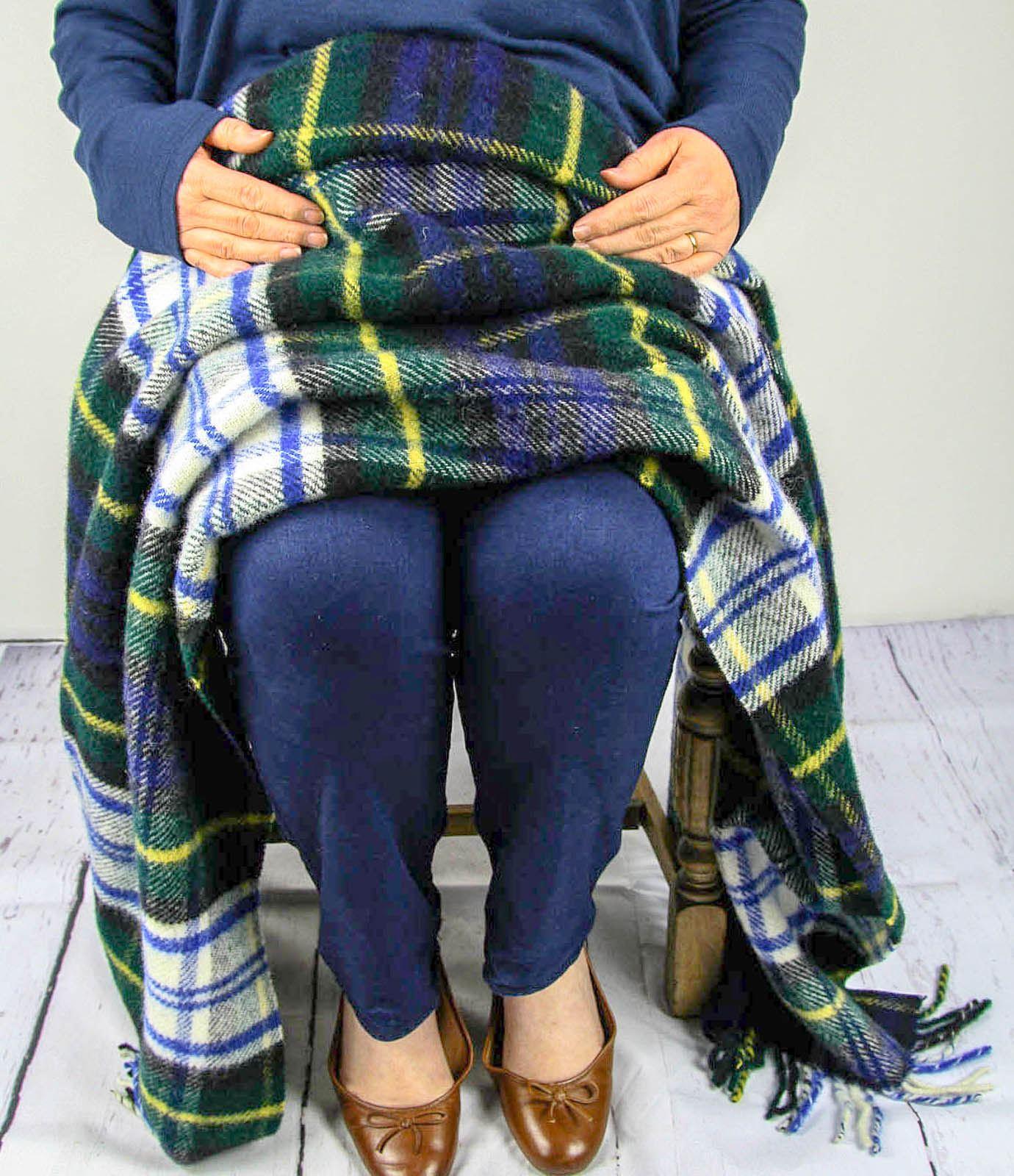 Tweedmill-tartan-100-wool-knee-travel-car-rug-British-made-small-blanket-throw 縮圖 19