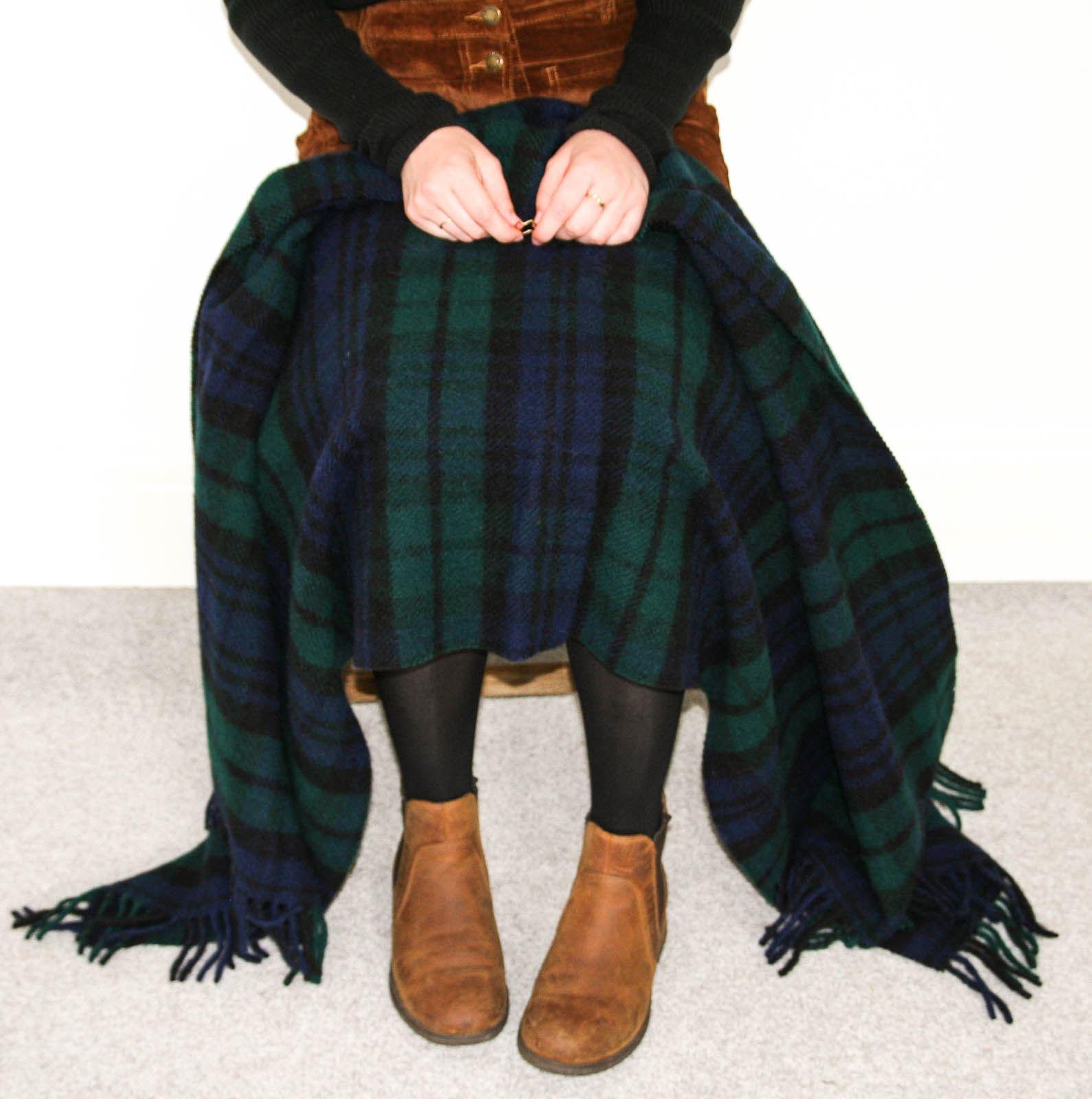 Tweedmill-tartan-100-wool-knee-travel-car-rug-British-made-small-blanket-throw 縮圖 13
