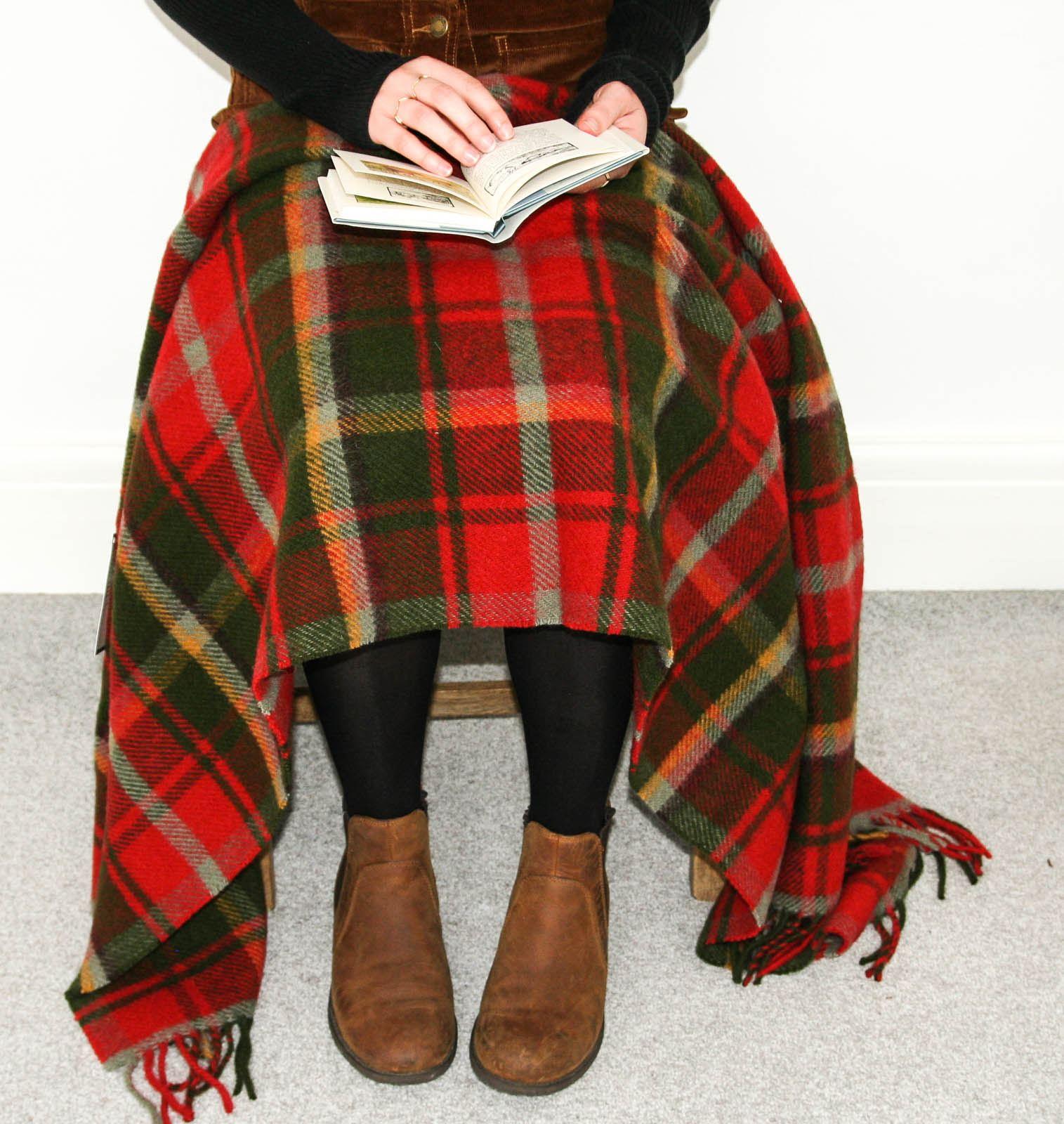 Tweedmill-tartan-100-wool-knee-travel-car-rug-British-made-small-blanket-throw 縮圖 20