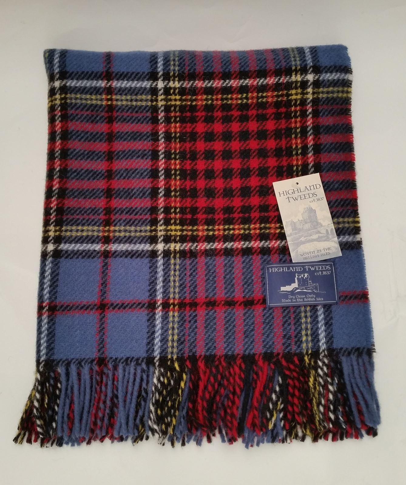 bronte tartan wool knee car rug british made small blanket throw highland tweeds ebay. Black Bedroom Furniture Sets. Home Design Ideas