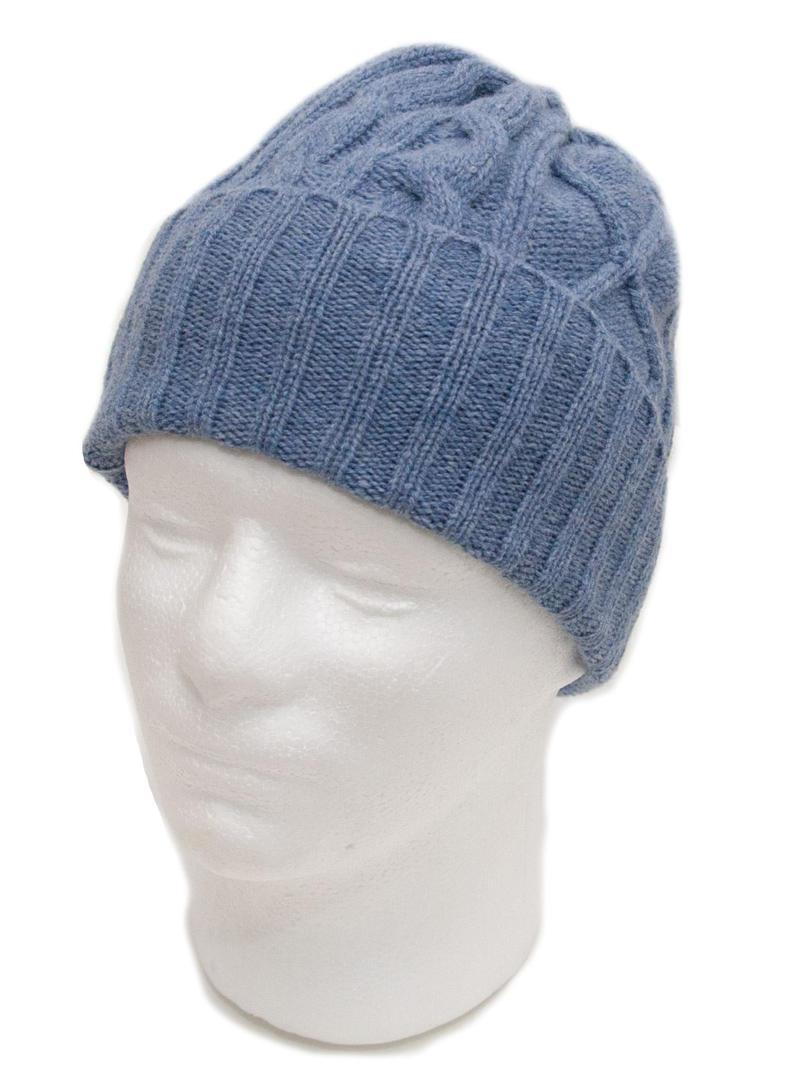 c69e1719833 Lambswool-Cable-Knit-Beanie-Hat-Cream-Grey-Blue-