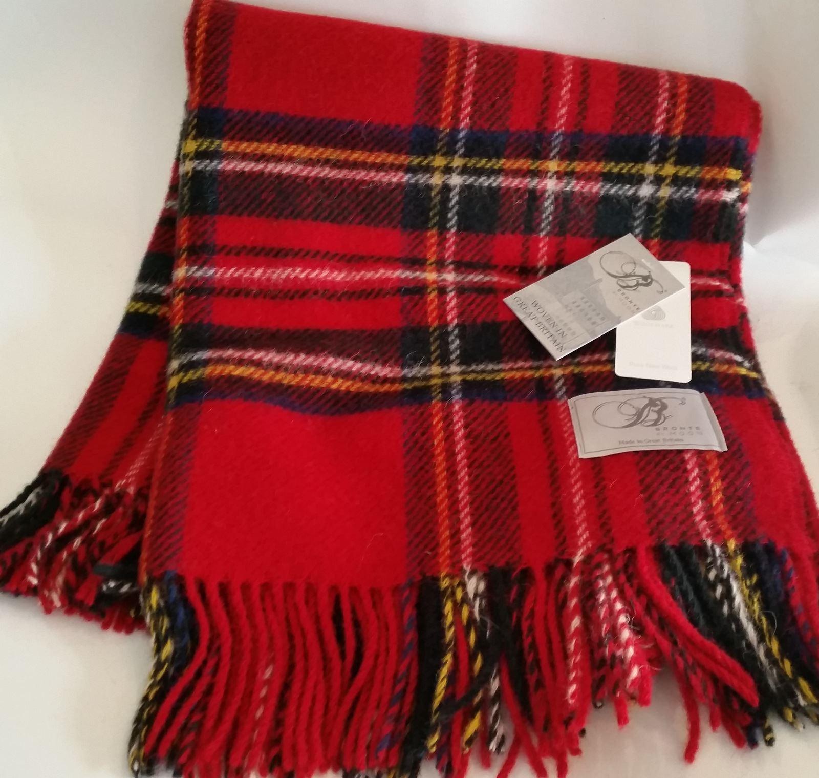 Bronte Tartan Wool Knee Car Rug British Made Small Blanket