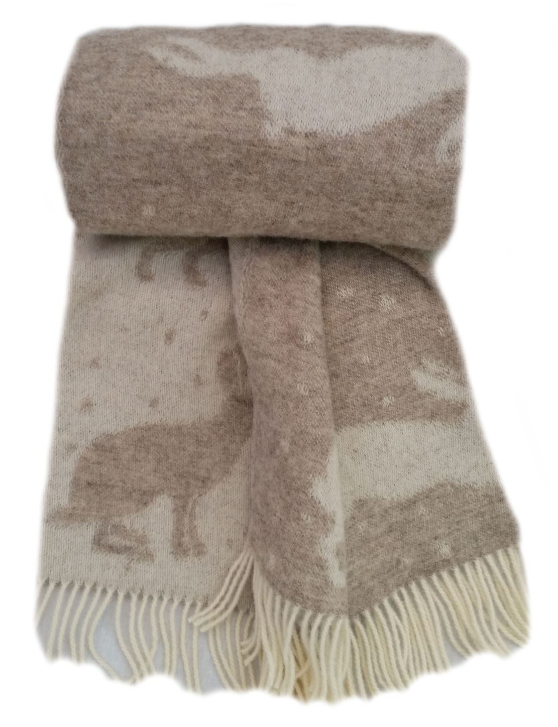 Wool Throw Sheep High Quality Horse Spring Stag Woodland Patterns Hare
