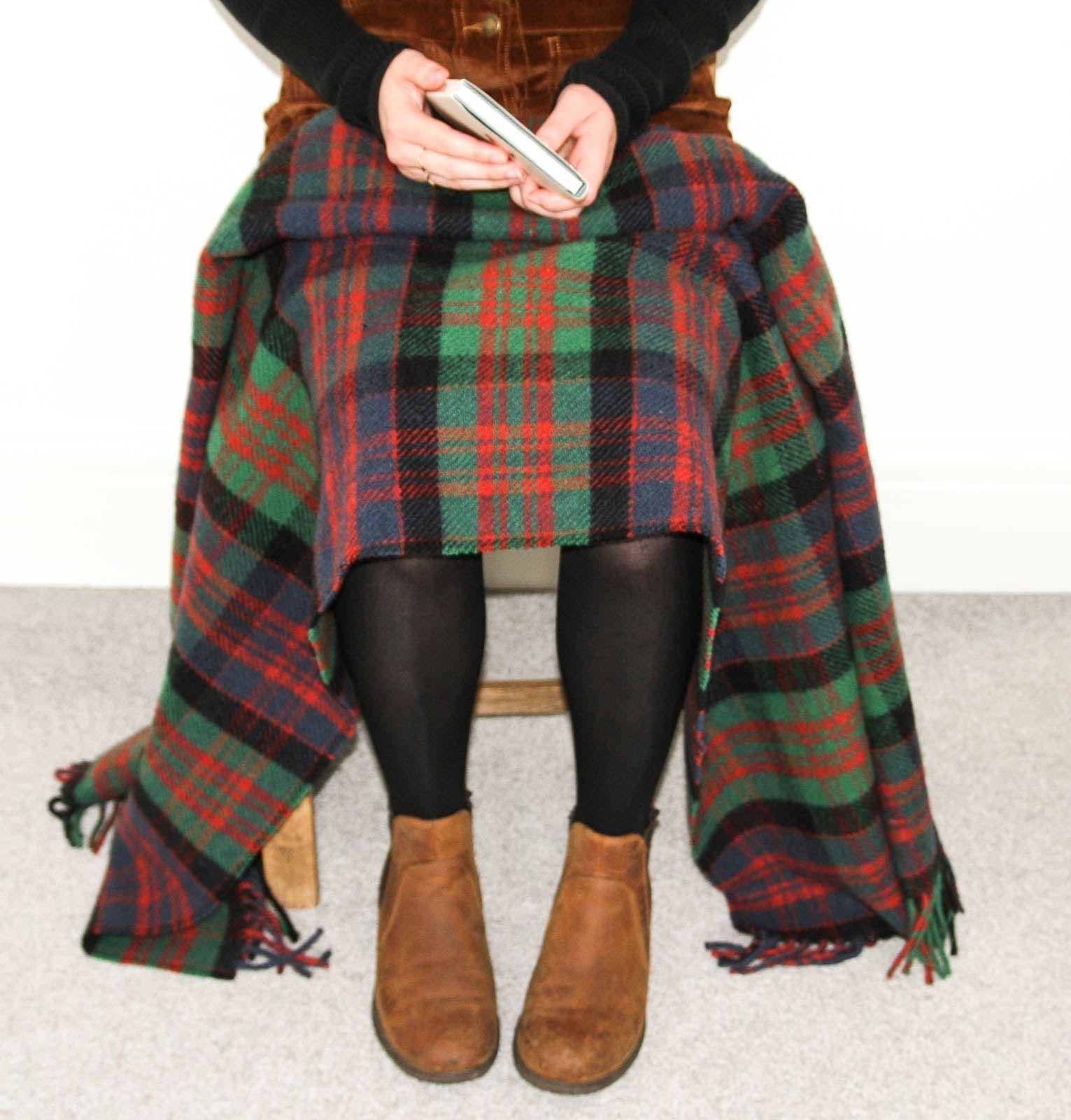Tweedmill-tartan-100-wool-knee-travel-car-rug-British-made-small-blanket-throw 縮圖 36