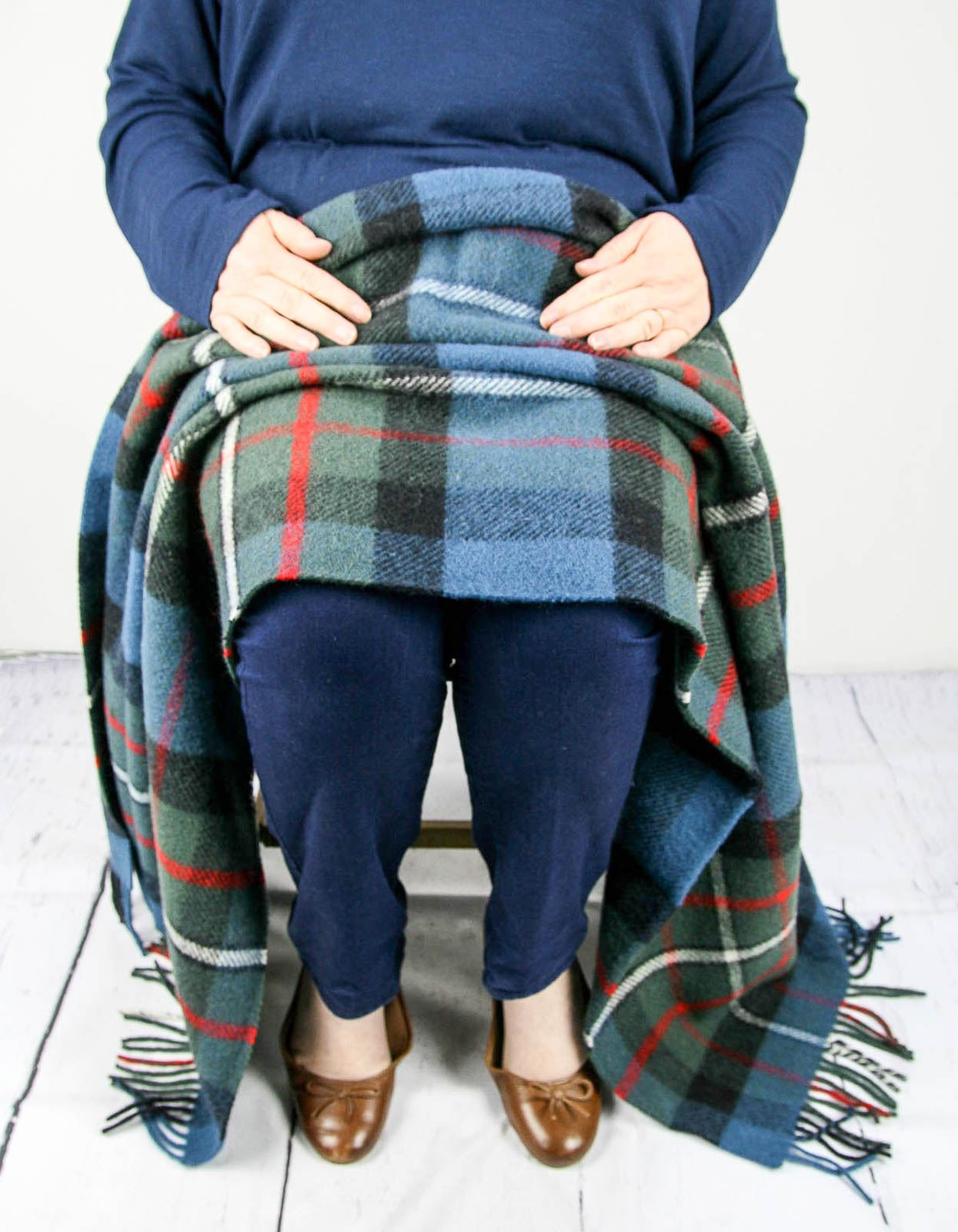 Tweedmill-tartan-100-wool-knee-travel-car-rug-British-made-small-blanket-throw 縮圖 22