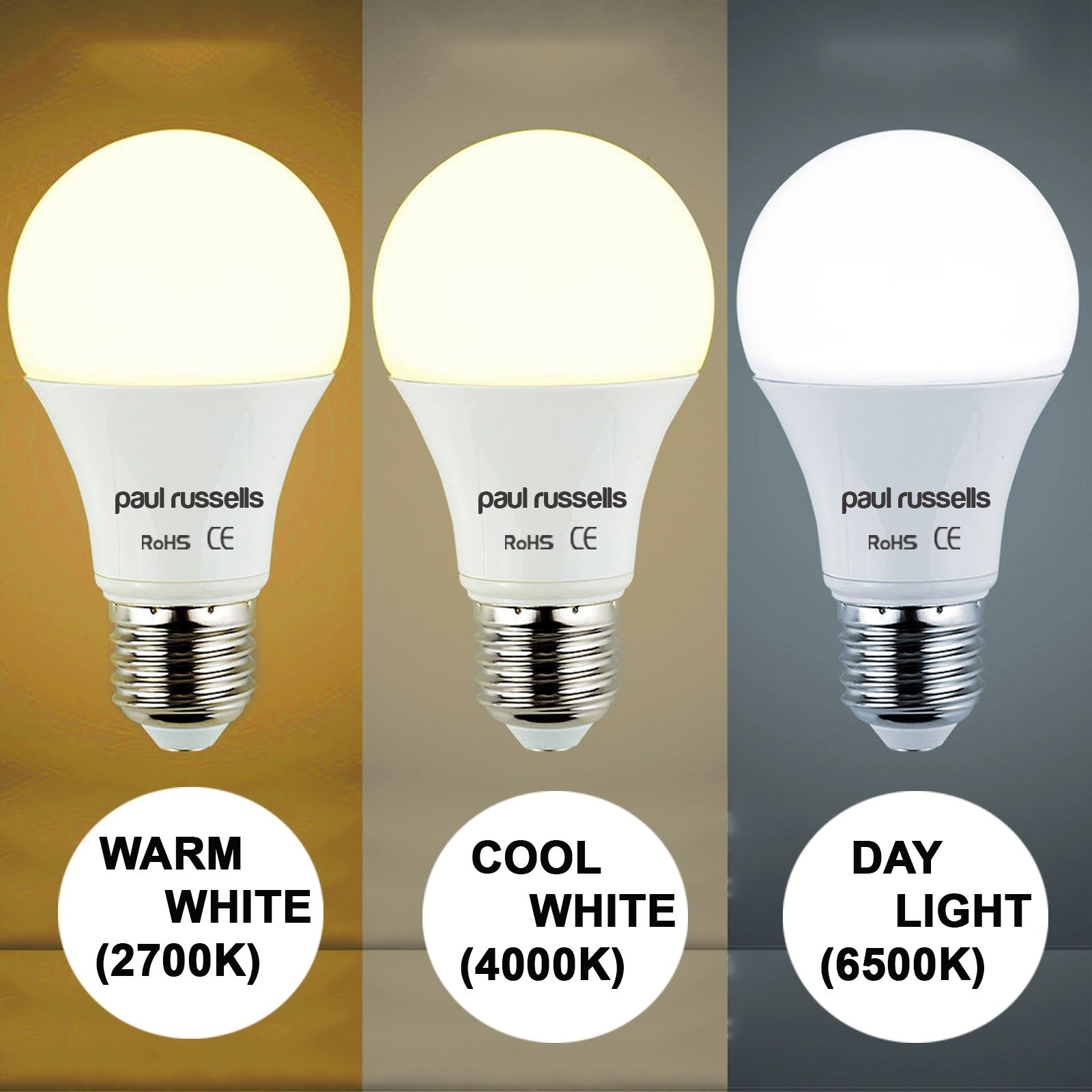 LED 40W 60W 100W 125W BC B22 ES E27 GLS Lamp Globe Bulbs Warm Cool Day Light
