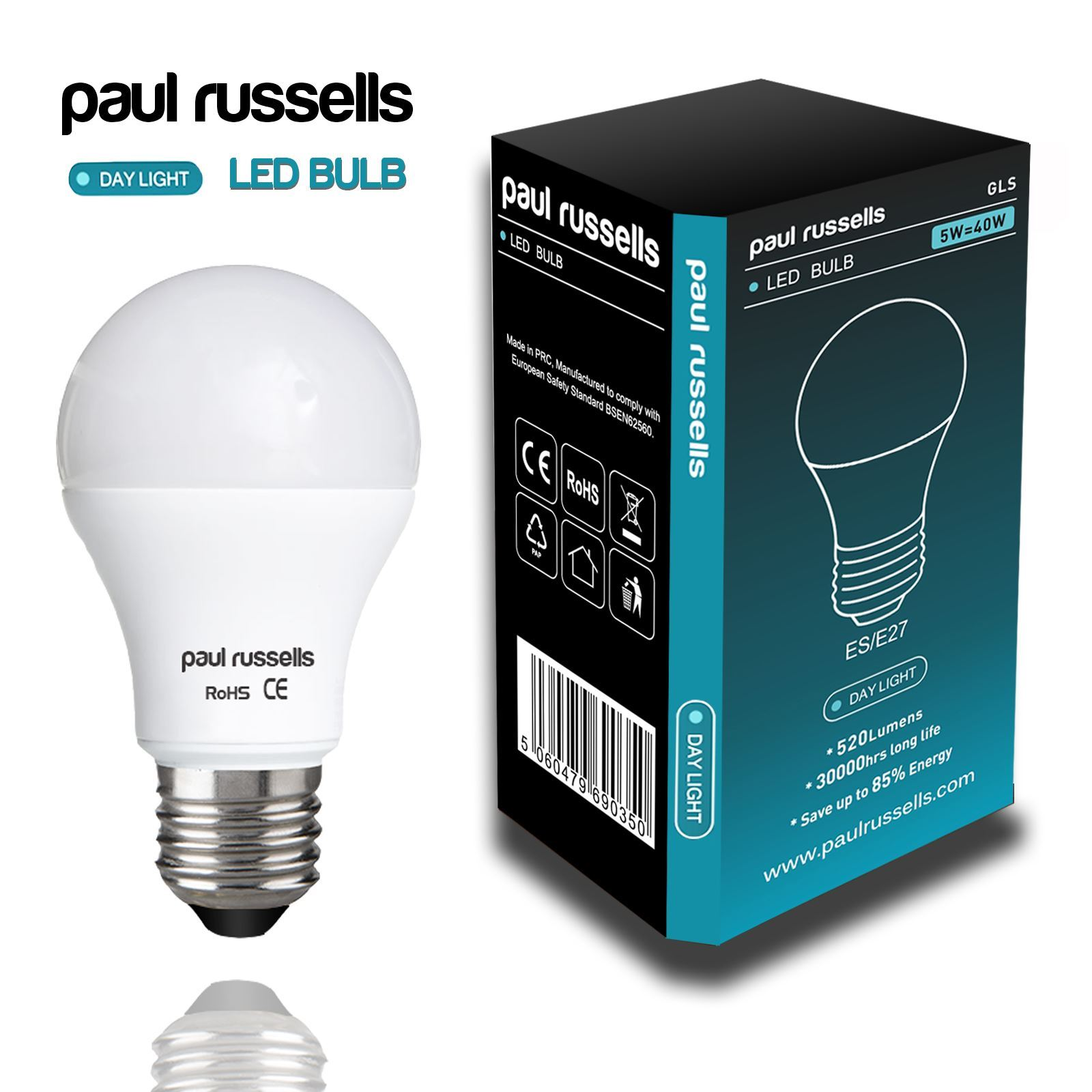 Low Energy Mini GLS Bulb 240 Lumen E14 Small Screw Cap 5W