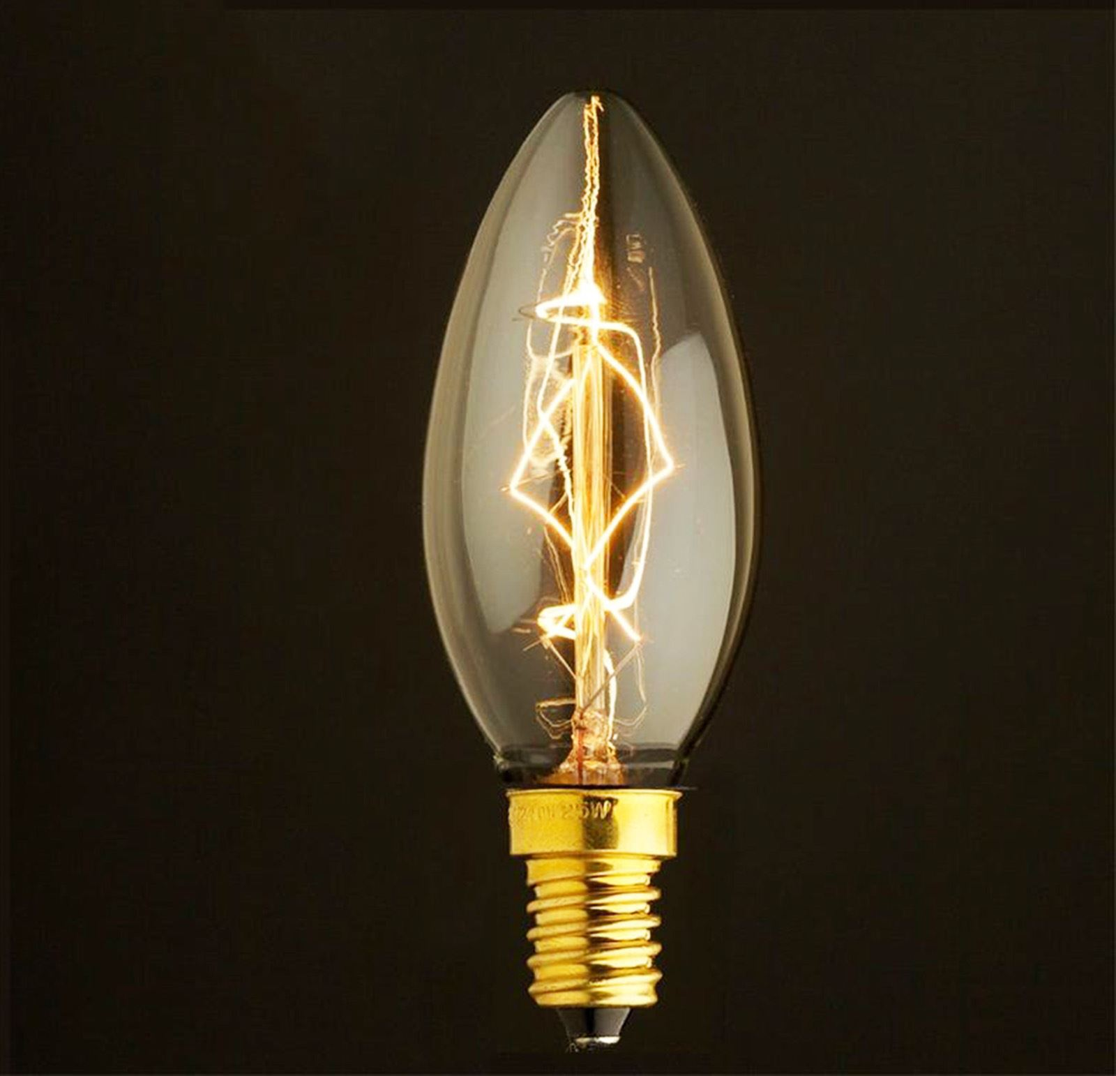 Dimmable Edison Bulbs Vintage Filament Chandelier Tip Candle Bulb