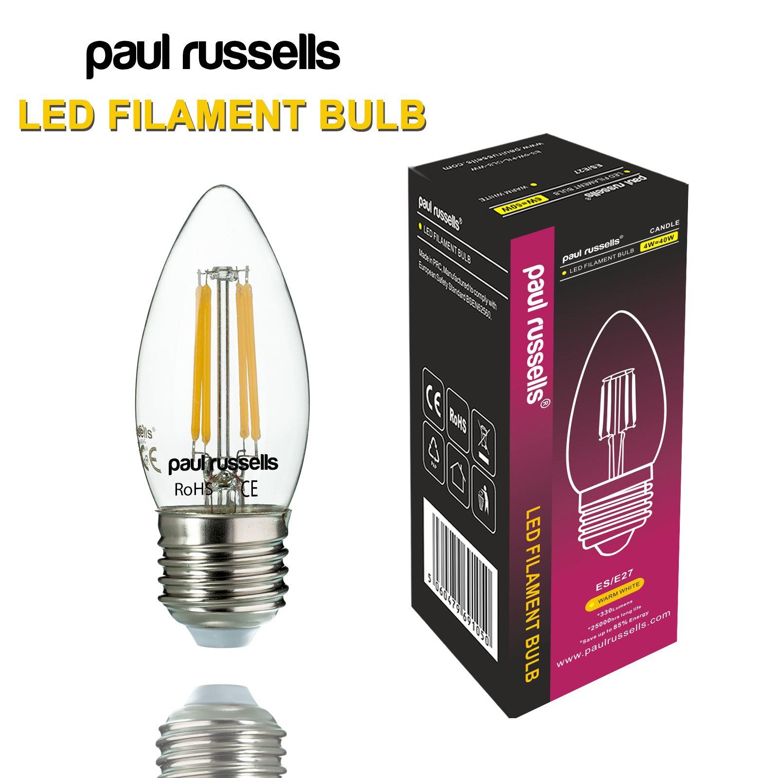 10 x vintage e14 b22 e27 led candle filament light bulbs 2w 4wwarm white ebay. Black Bedroom Furniture Sets. Home Design Ideas