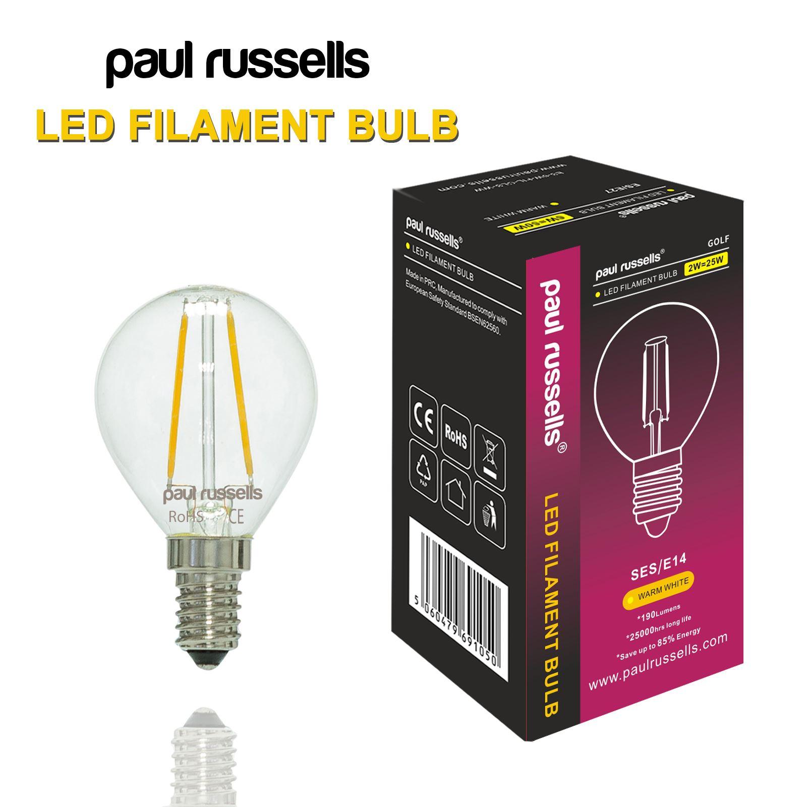 Affinity 4 2w 40w Filament Led Gls Es E27 Clear Light: 2W 4W G45 LED Filament Mini Globe Small Bulb Antique Clear