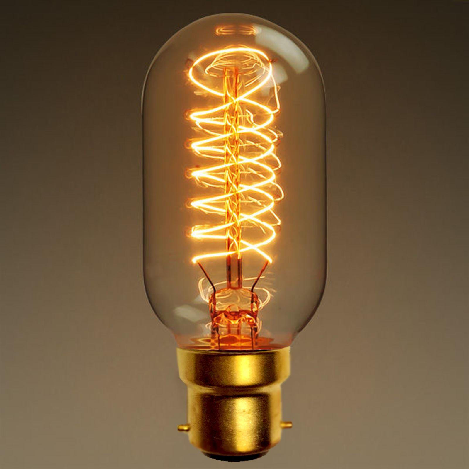 Affinity 4 2w 40w Filament Led Gls Es E27 Clear Light: B22 Bayonet 40W E27 Vintage Antique Retro Amber Light