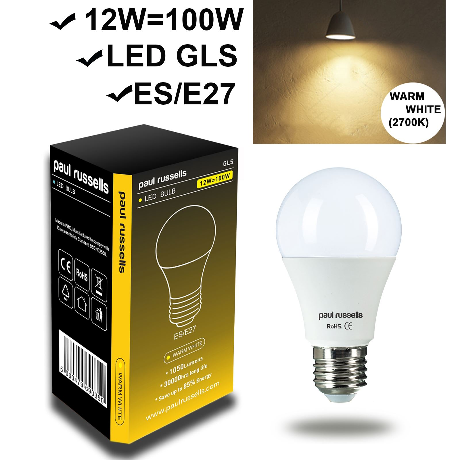 5w 7w 12w led 40 60w 100w e27 b22 gls lamp light bulbs warm cool day white ebay. Black Bedroom Furniture Sets. Home Design Ideas