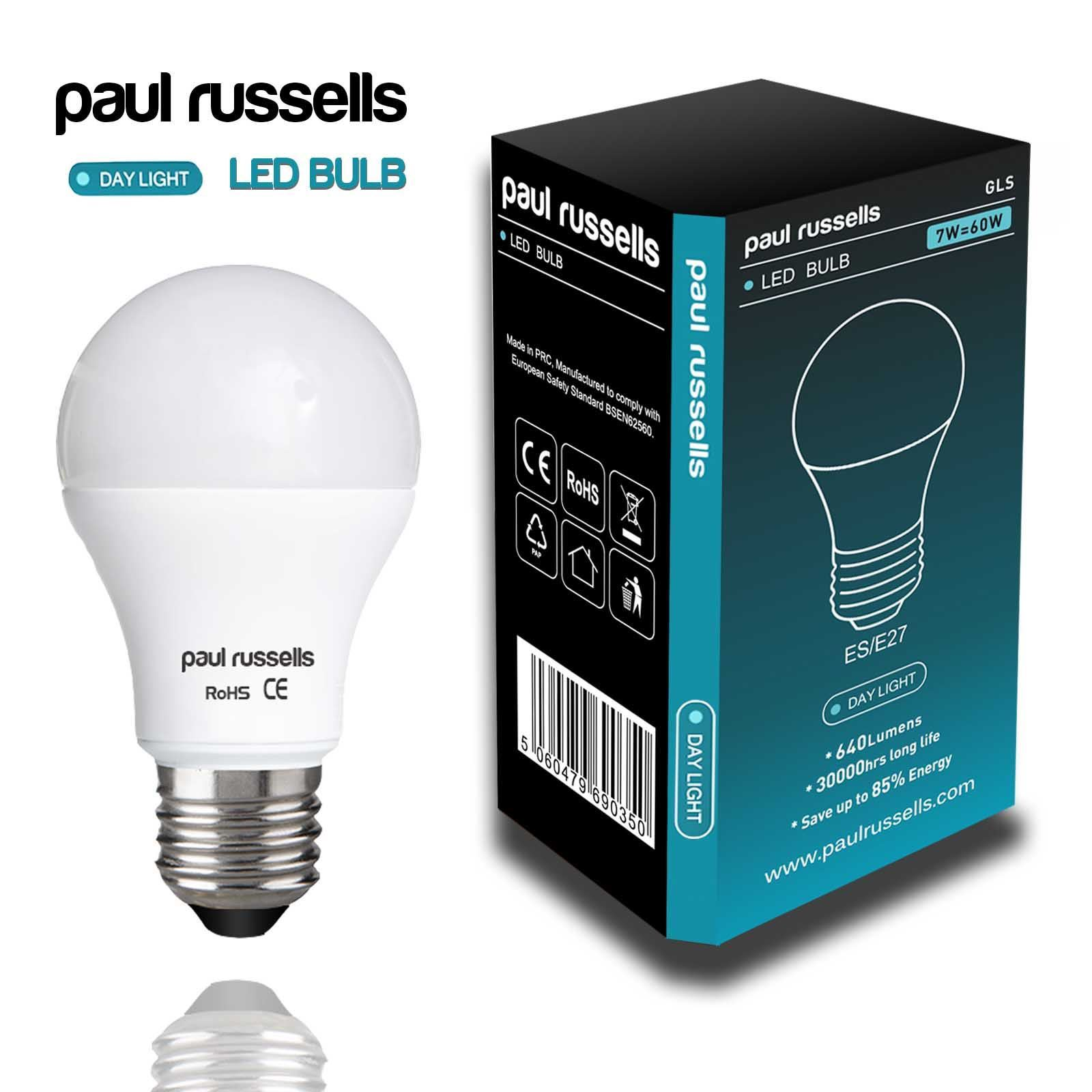 paul russells led light bulbs 3w 4w 5w 7w 12w 25 40 60 100 watt e14 b27 b22 ebay. Black Bedroom Furniture Sets. Home Design Ideas