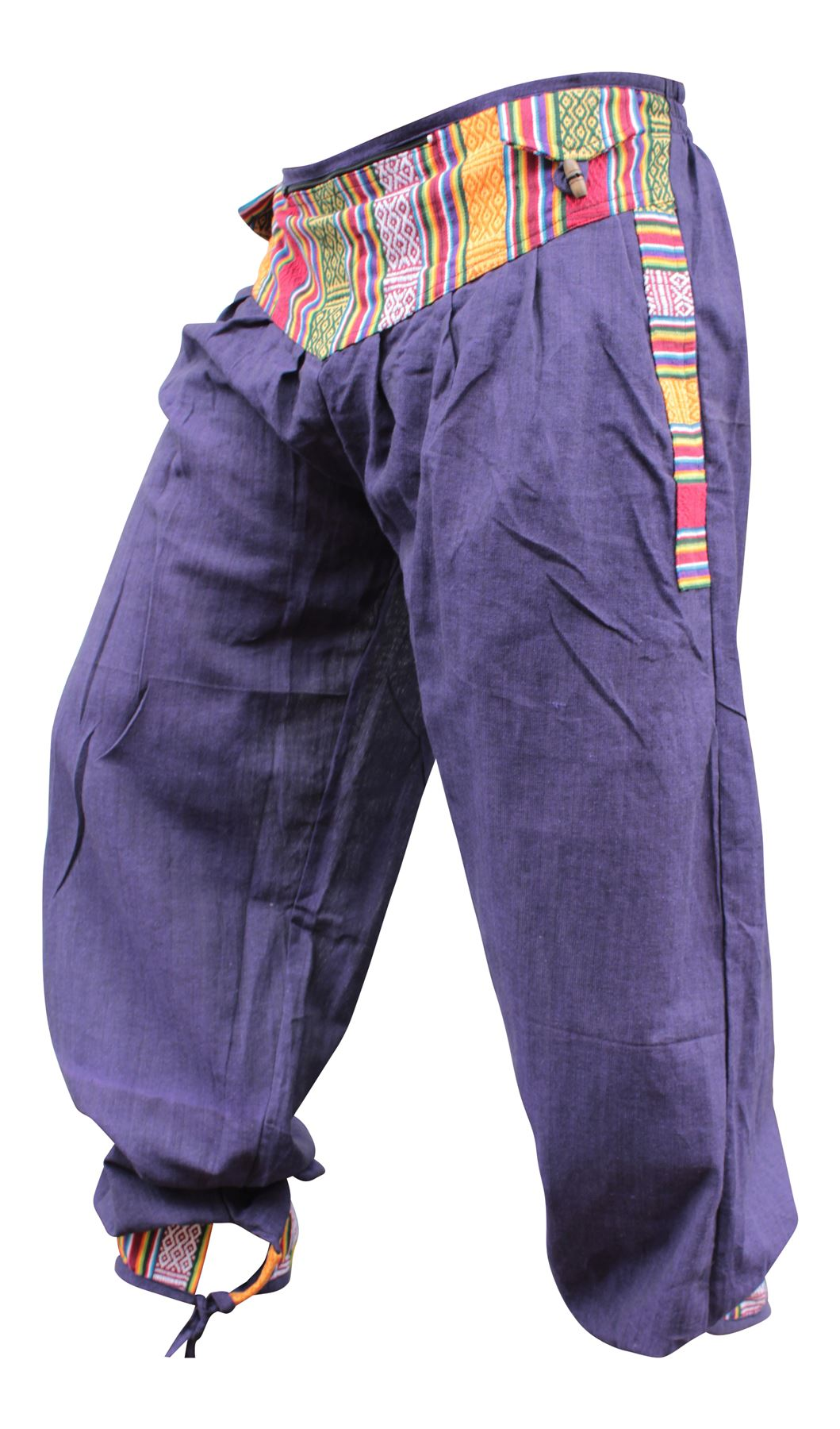 Men Women Hippie Bordered Trouser Festival Boho Hippy ...