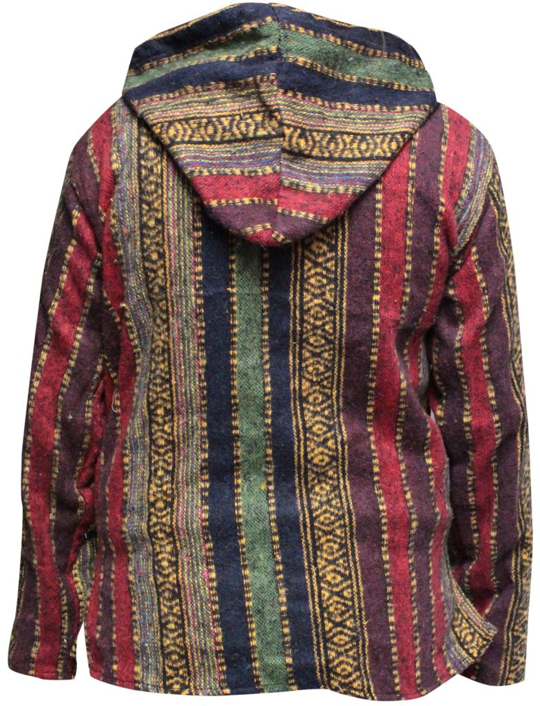 Sweat-a-Capuche-Pull-over-Femmes-Hippie-Festival-multicolores-goth-Hippy-BAJA-Sweat-a-capuche-veste miniature 11