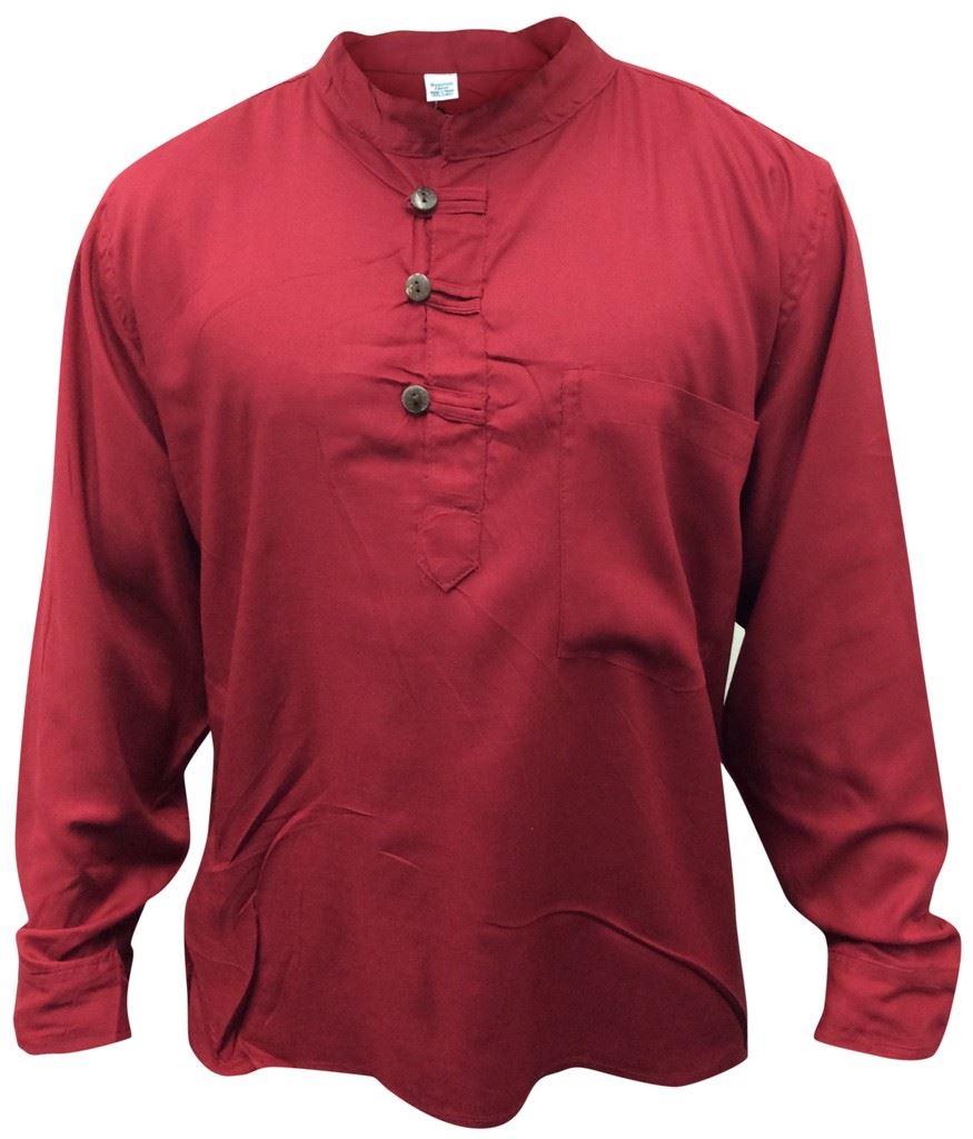 Men-Hippie-Linen-Collarless-Grandad-Shirt-Full-Sleeve-Boho-Casual-Seasonal-Tops thumbnail 18