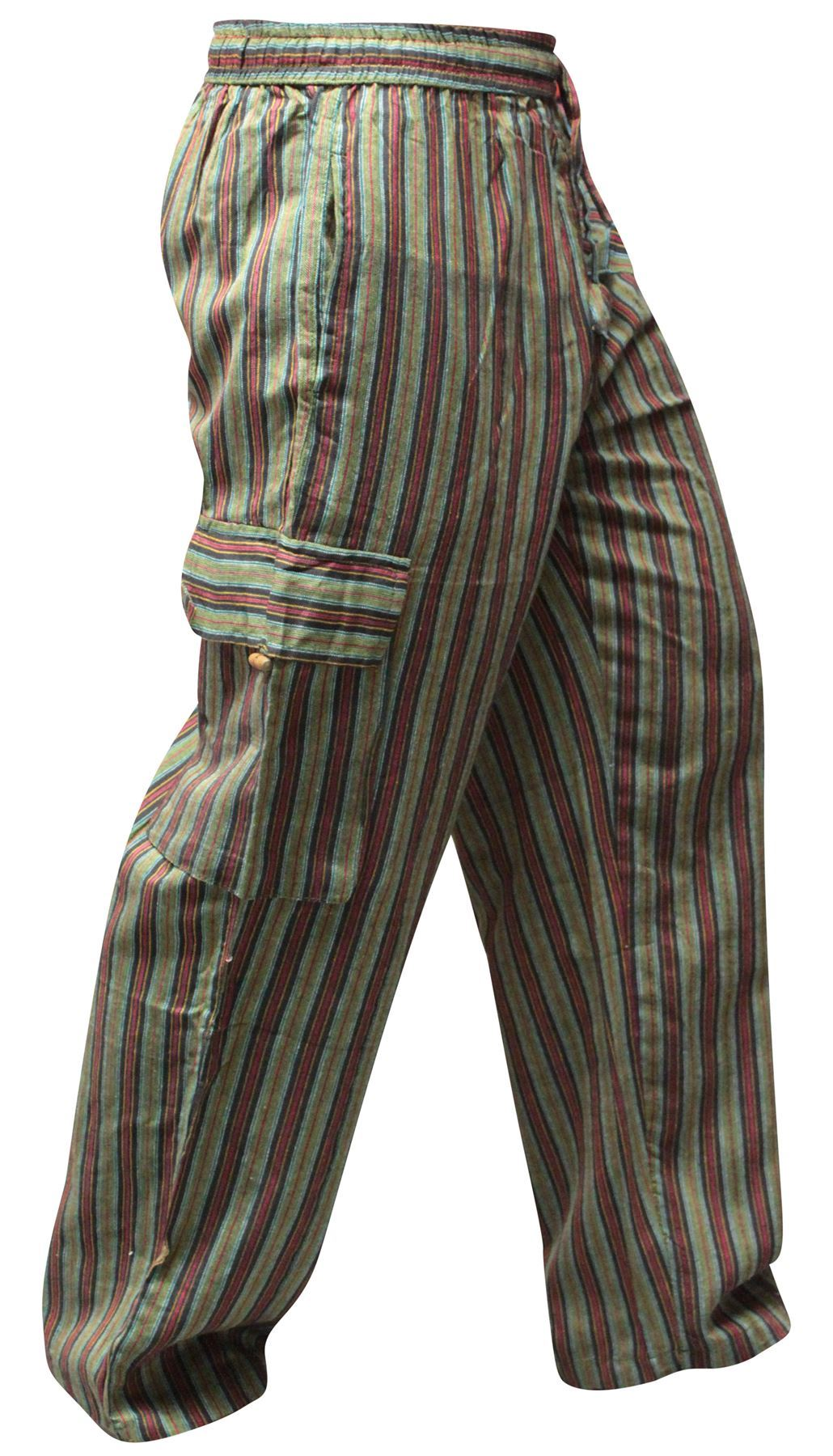 70s Hippie Pants Striped Vintage Bell Bottoms Brown by ... |Hippie Striped Pants