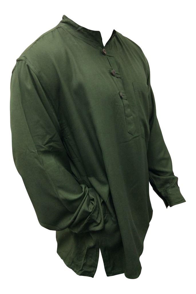 Men-Hippie-Linen-Collarless-Grandad-Shirt-Full-Sleeve-Boho-Casual-Seasonal-Tops thumbnail 15