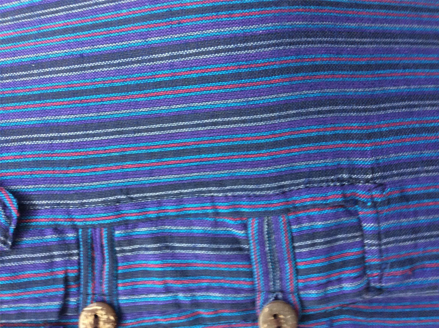 Men-039-s-Cotton-Grandad-Shirt-Full-Sleeved-Hippie-Top-Festival-Stripe-Hippy-Hoodie thumbnail 8