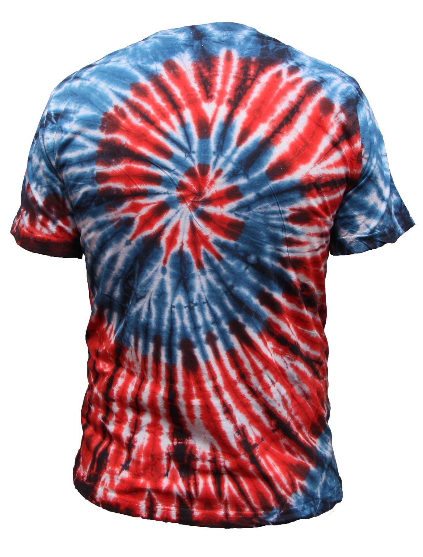 Tie-Dye-T-Shirt-Music-Festival-Tye-Dye-Tee-Hipster-Retro-Unisex-Short-Sleeve-Top thumbnail 7