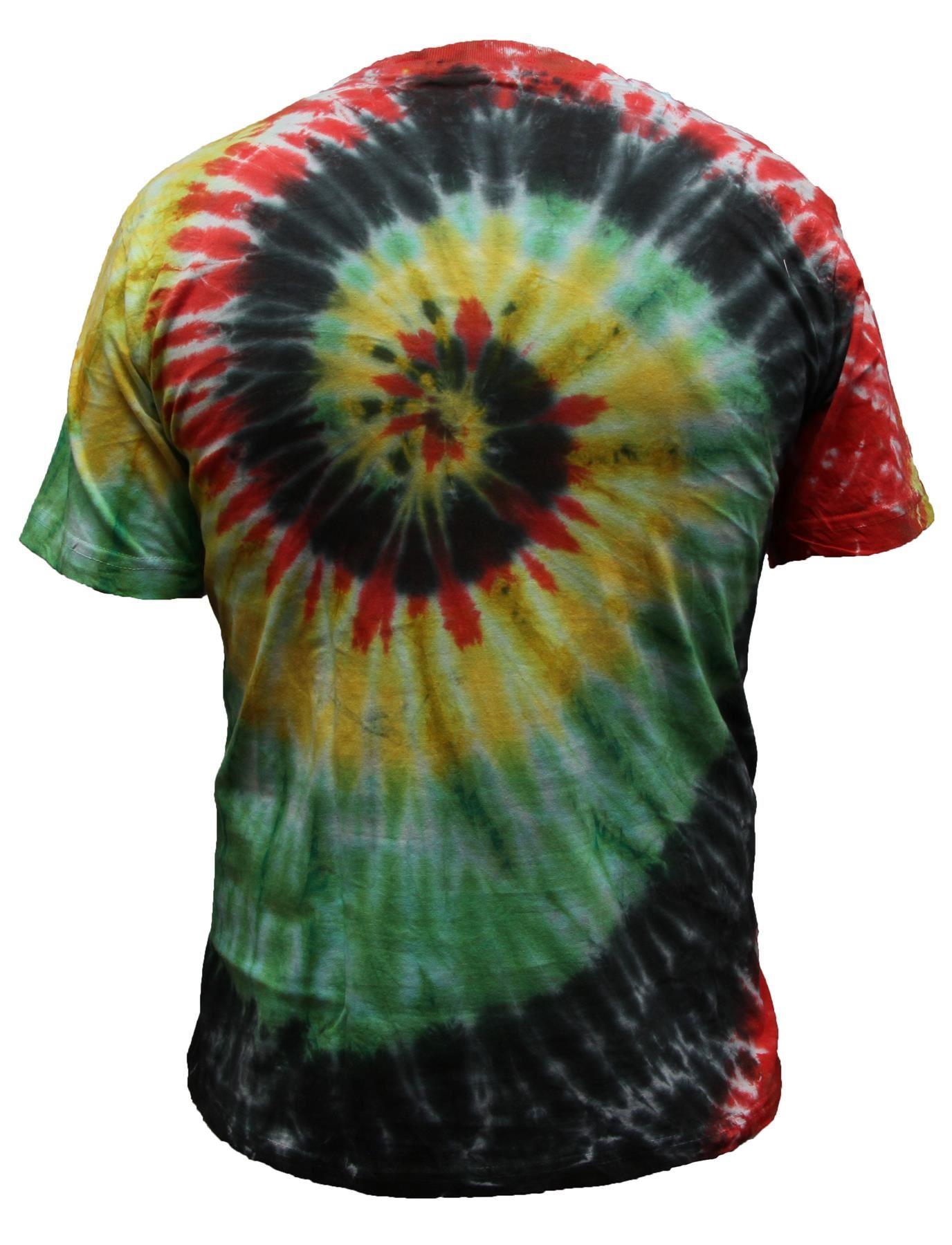 Tie-Dye-T-Shirt-Music-Festival-Tye-Dye-Tee-Hipster-Retro-Unisex-Short-Sleeve-Top thumbnail 11