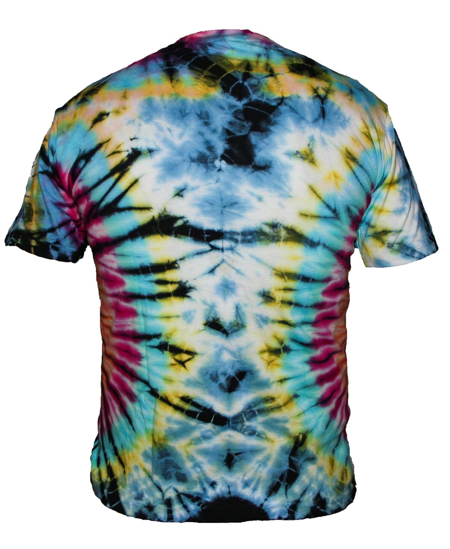 Tie-Dye-T-Shirt-Music-Festival-Tye-Dye-Tee-Hipster-Retro-Unisex-Short-Sleeve-Top thumbnail 17