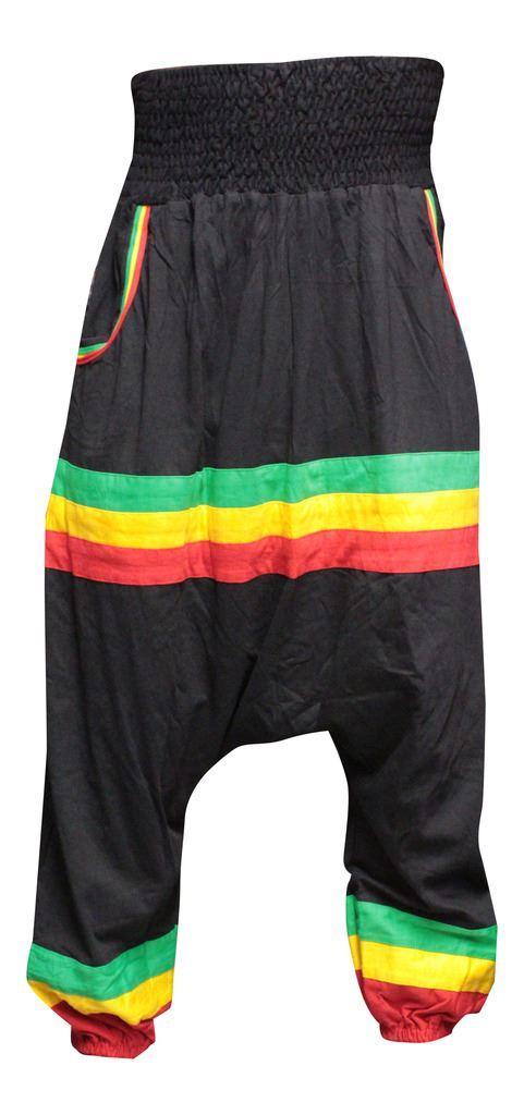 Mens Light Stripe Hippy Combat Trouser Summer Festival ... |Hippie Striped Pants