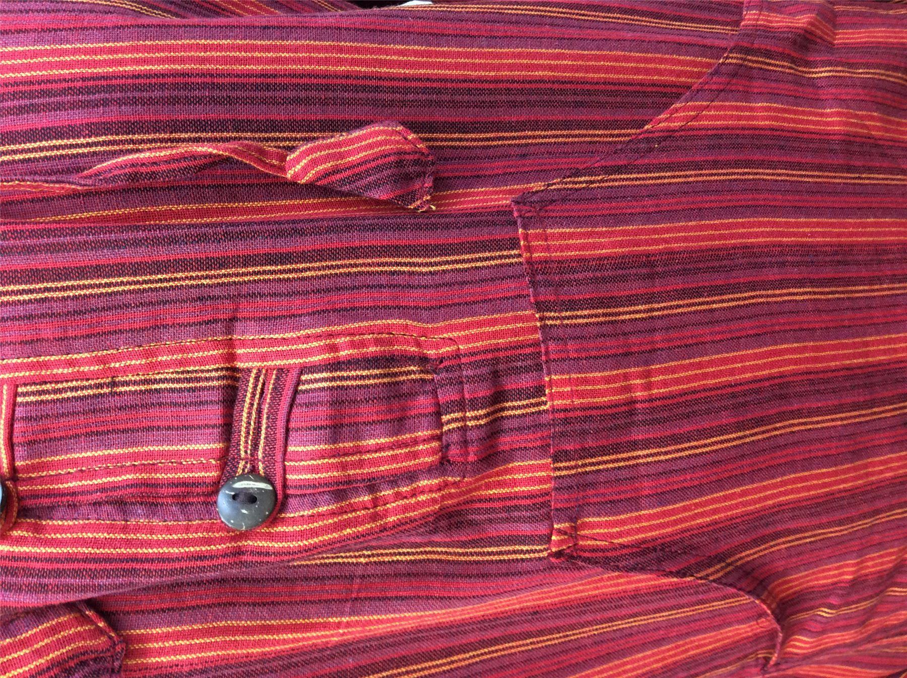 Men-039-s-Cotton-Grandad-Shirt-Full-Sleeved-Hippie-Top-Festival-Stripe-Hippy-Hoodie thumbnail 20