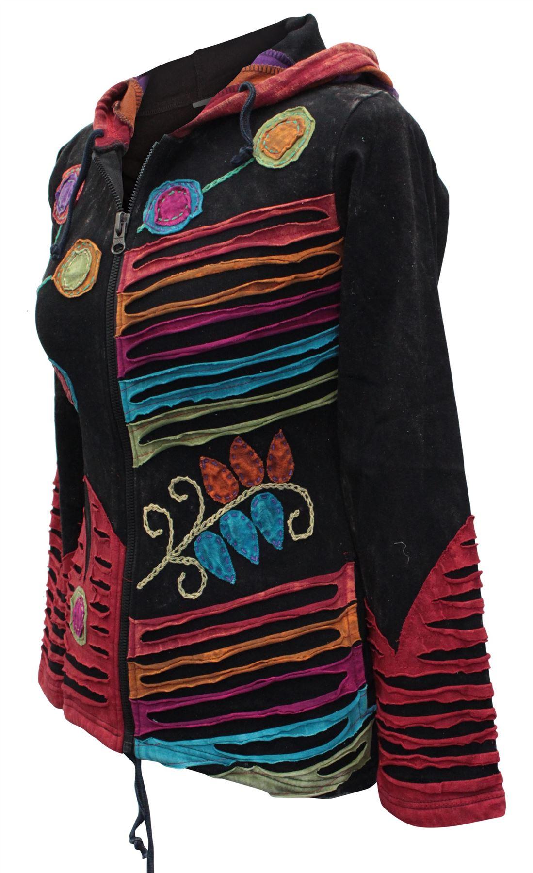 Rusty Grunge Emo Goth Hippie Boho Punk Gypsy Women Festival Hoodie Retro Jacket