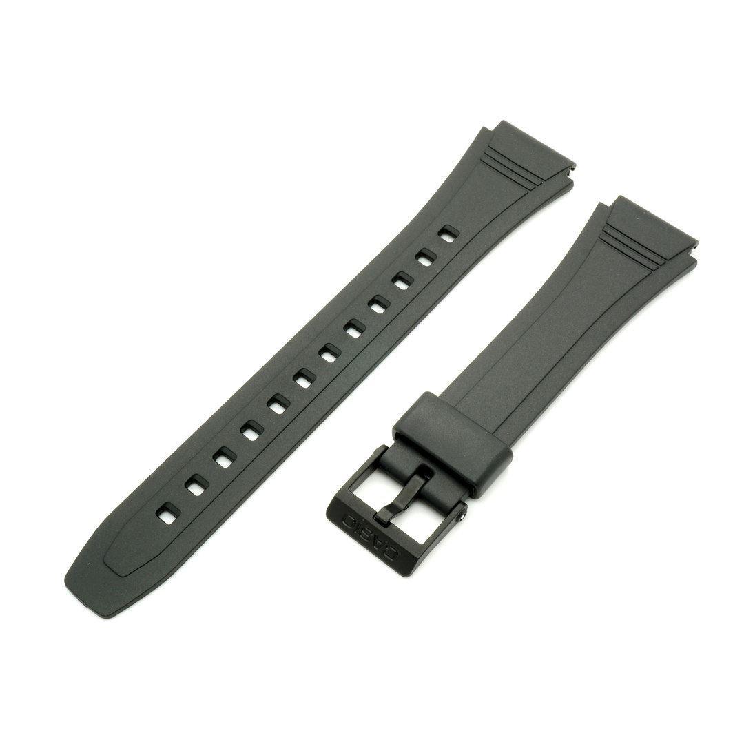 eb8aa5a9a03 Genuine Casio Black Rubber Watch Band Strap for Databank DB-36-1AV DB-36-9AV