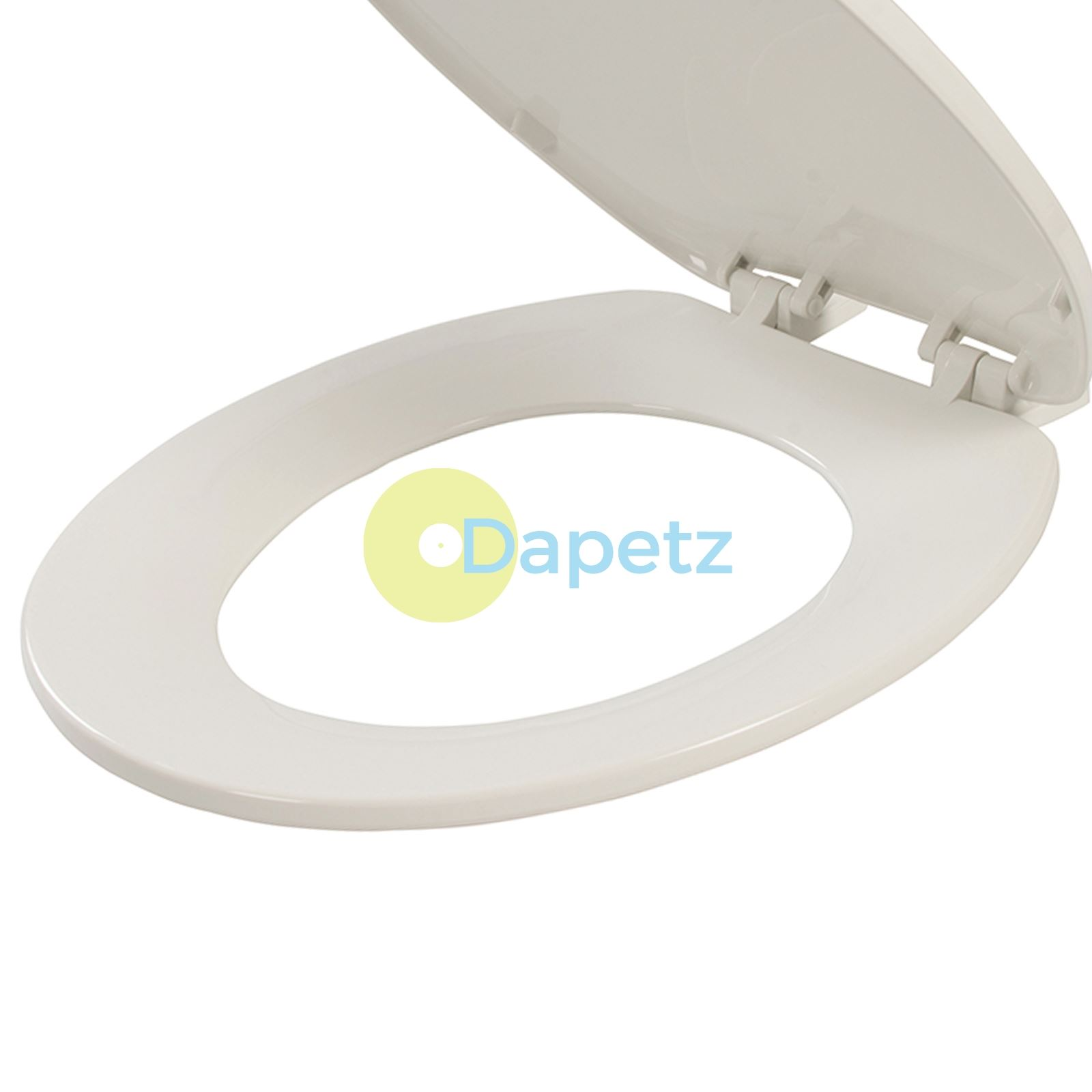 BRAND NEW LUXURY BATHROOM SLOW SOFT CLOSE WHITE TOILET SEAT SEATS WC HEAVY DUTY