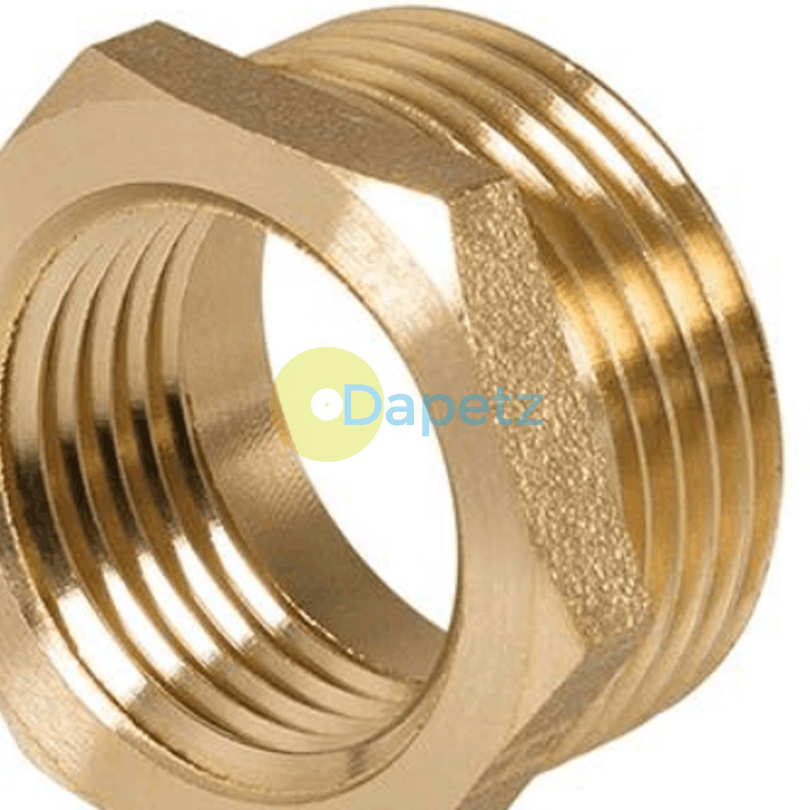 Brass-Reducing-Hexagone-Bush-BSP-Male-a-Femelle-Adaptateur-Connecteur-WRAS-approuves miniature 24