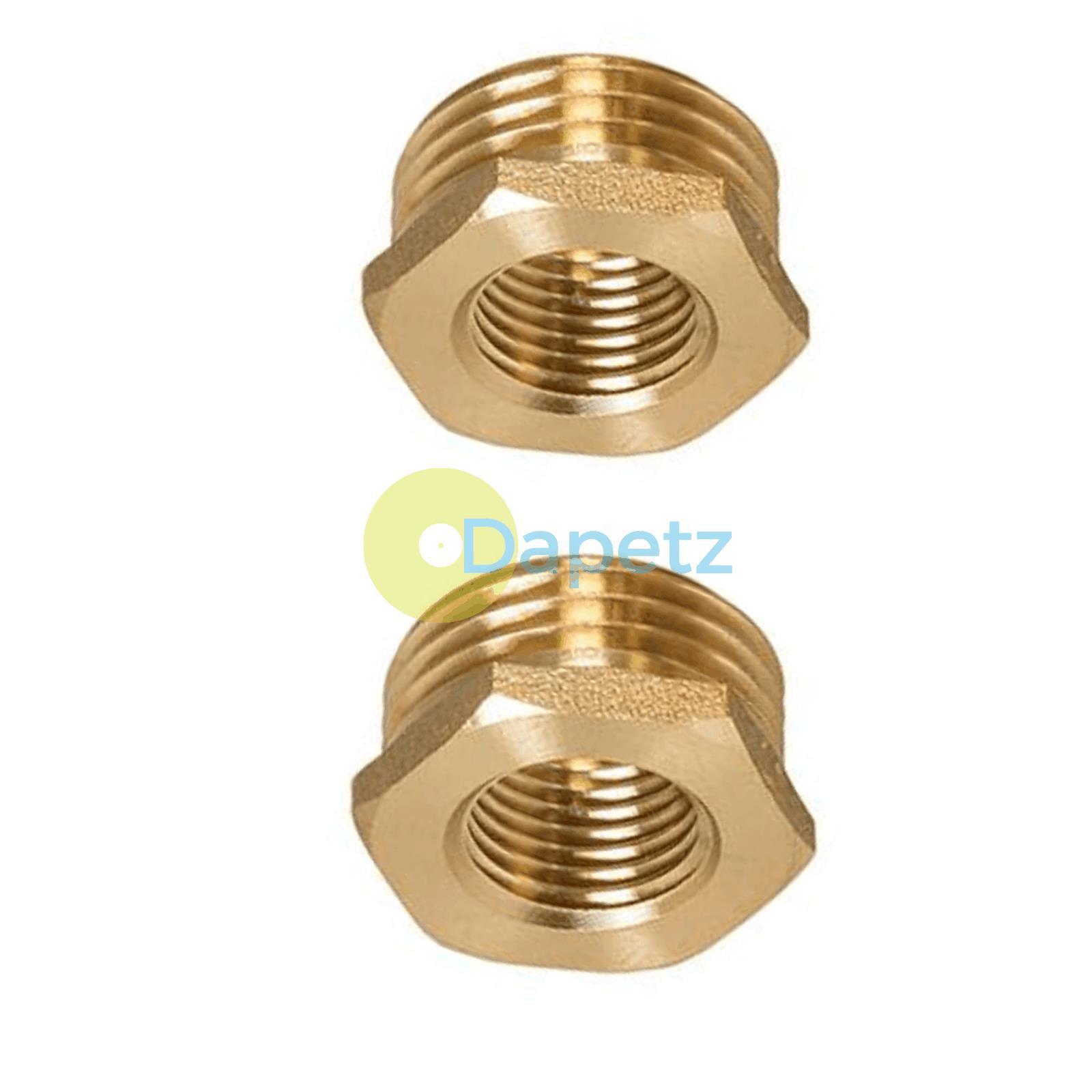 Brass-Reducing-Hexagone-Bush-BSP-Male-a-Femelle-Adaptateur-Connecteur-WRAS-approuves miniature 18
