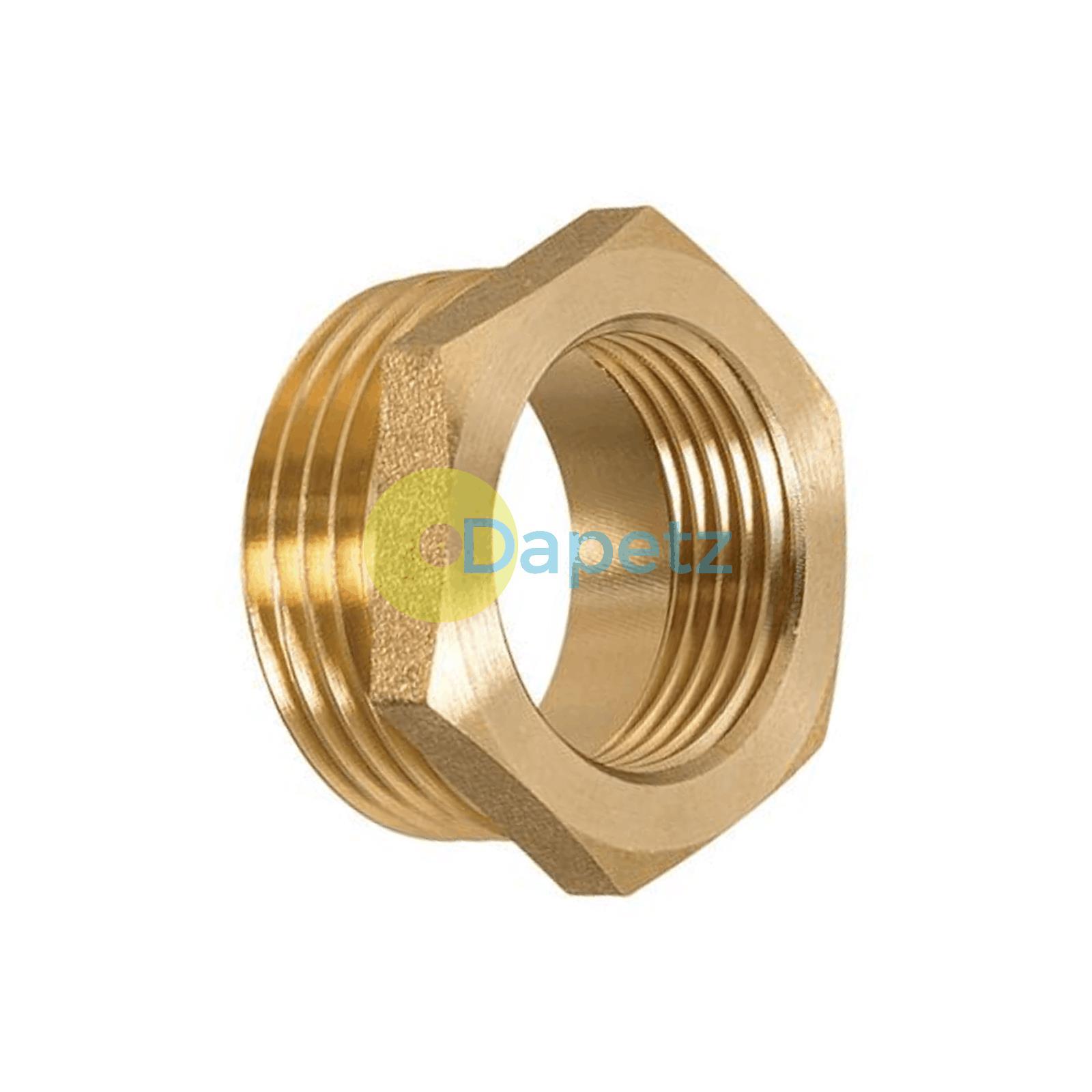 Brass-Reducing-Hexagone-Bush-BSP-Male-a-Femelle-Adaptateur-Connecteur-WRAS-approuves miniature 11