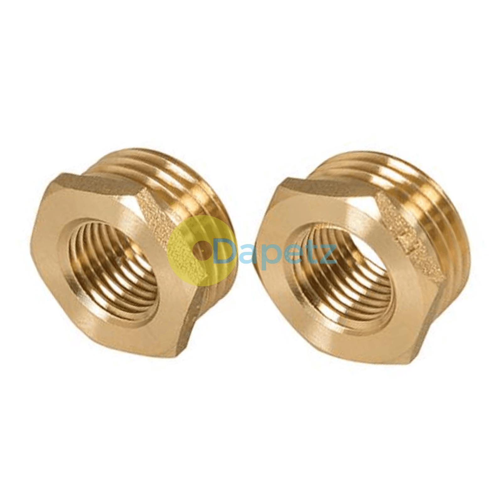 Brass-Reducing-Hexagone-Bush-BSP-Male-a-Femelle-Adaptateur-Connecteur-WRAS-approuves miniature 15
