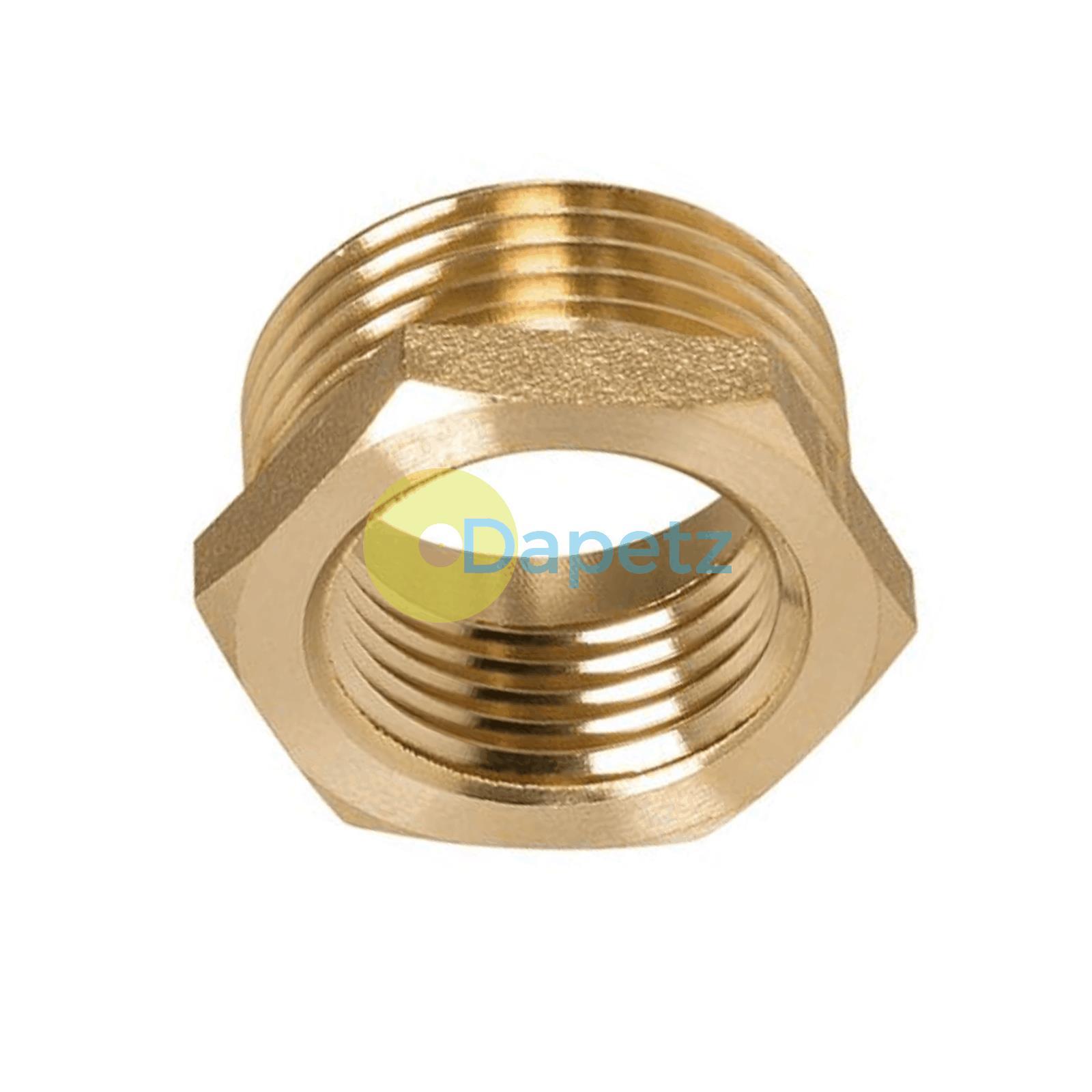 Brass-Reducing-Hexagone-Bush-BSP-Male-a-Femelle-Adaptateur-Connecteur-WRAS-approuves miniature 21