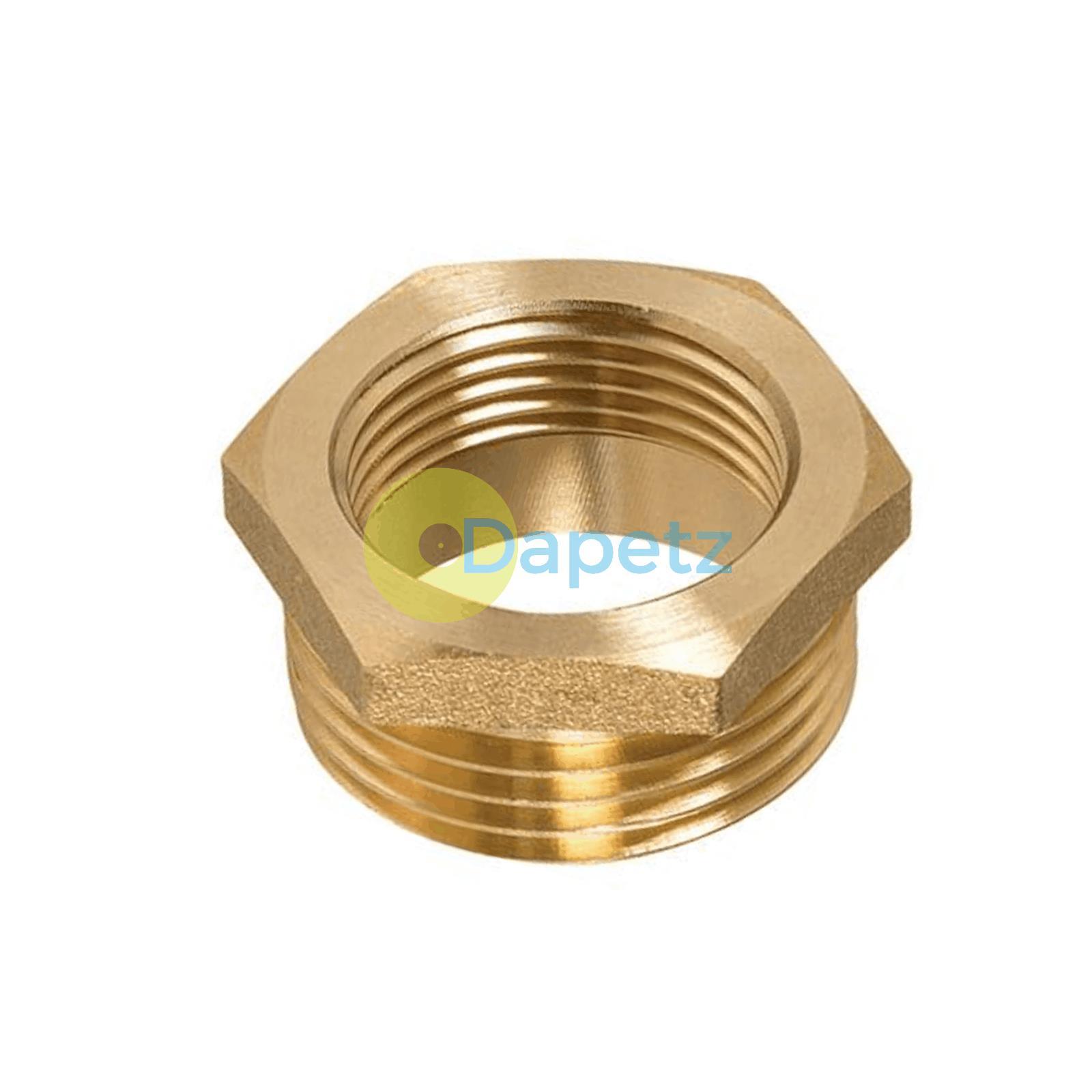Brass-Reducing-Hexagone-Bush-BSP-Male-a-Femelle-Adaptateur-Connecteur-WRAS-approuves miniature 9